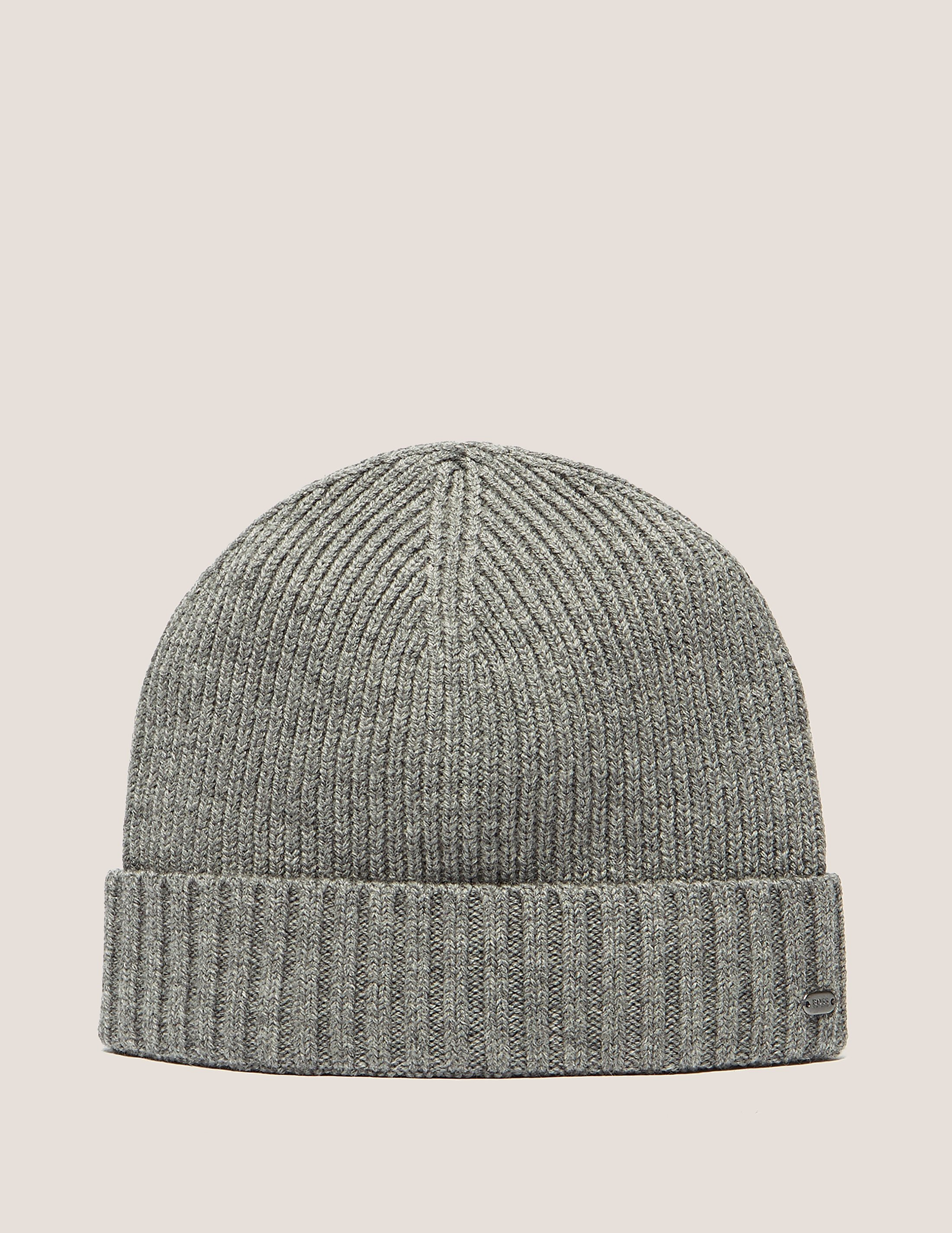 BOSS Green Ribbed Beanie