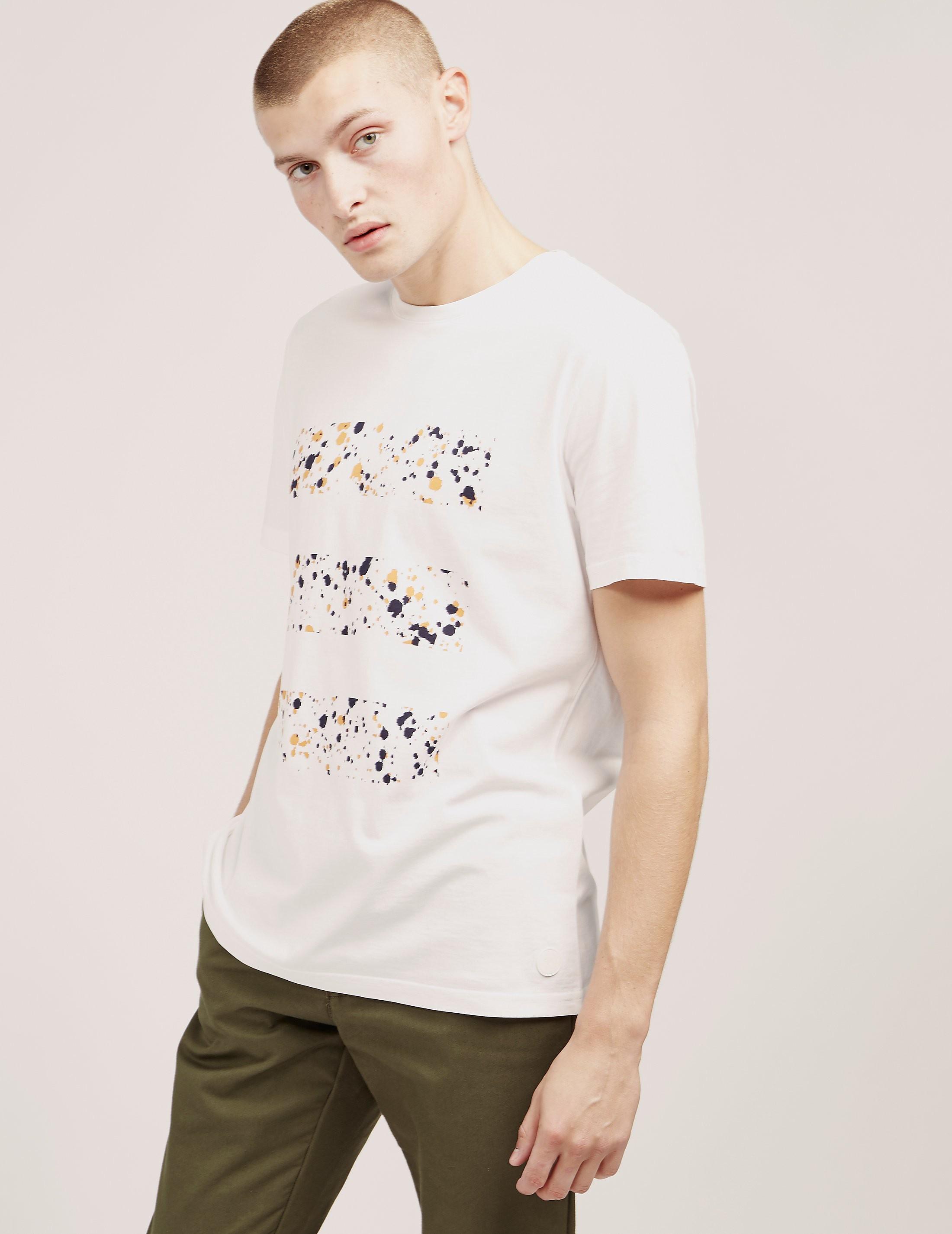 Folk Splat Stripe Short Sleeve T-Shirt