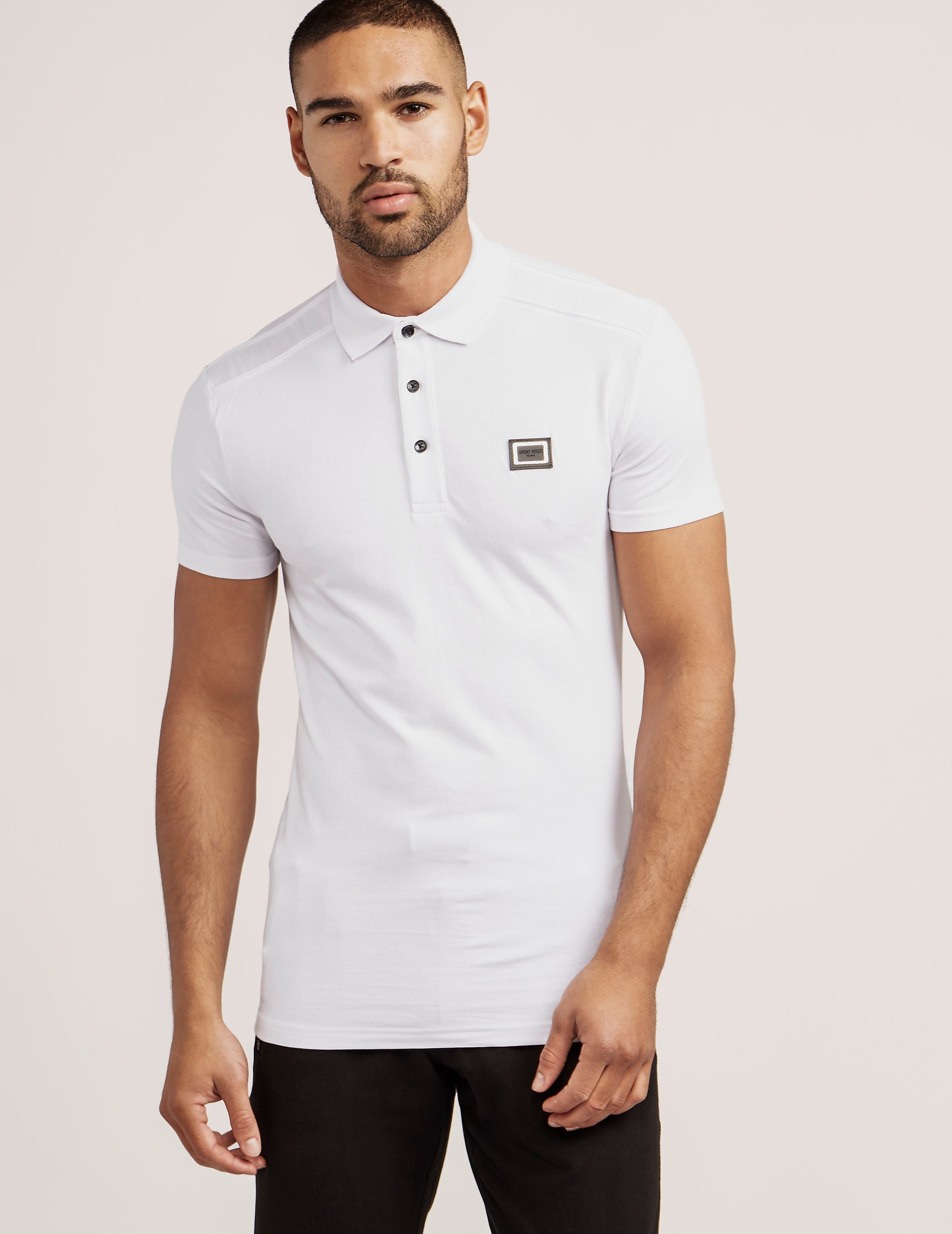 Antony Morato Plaque Short Sleeve Polo Shirt