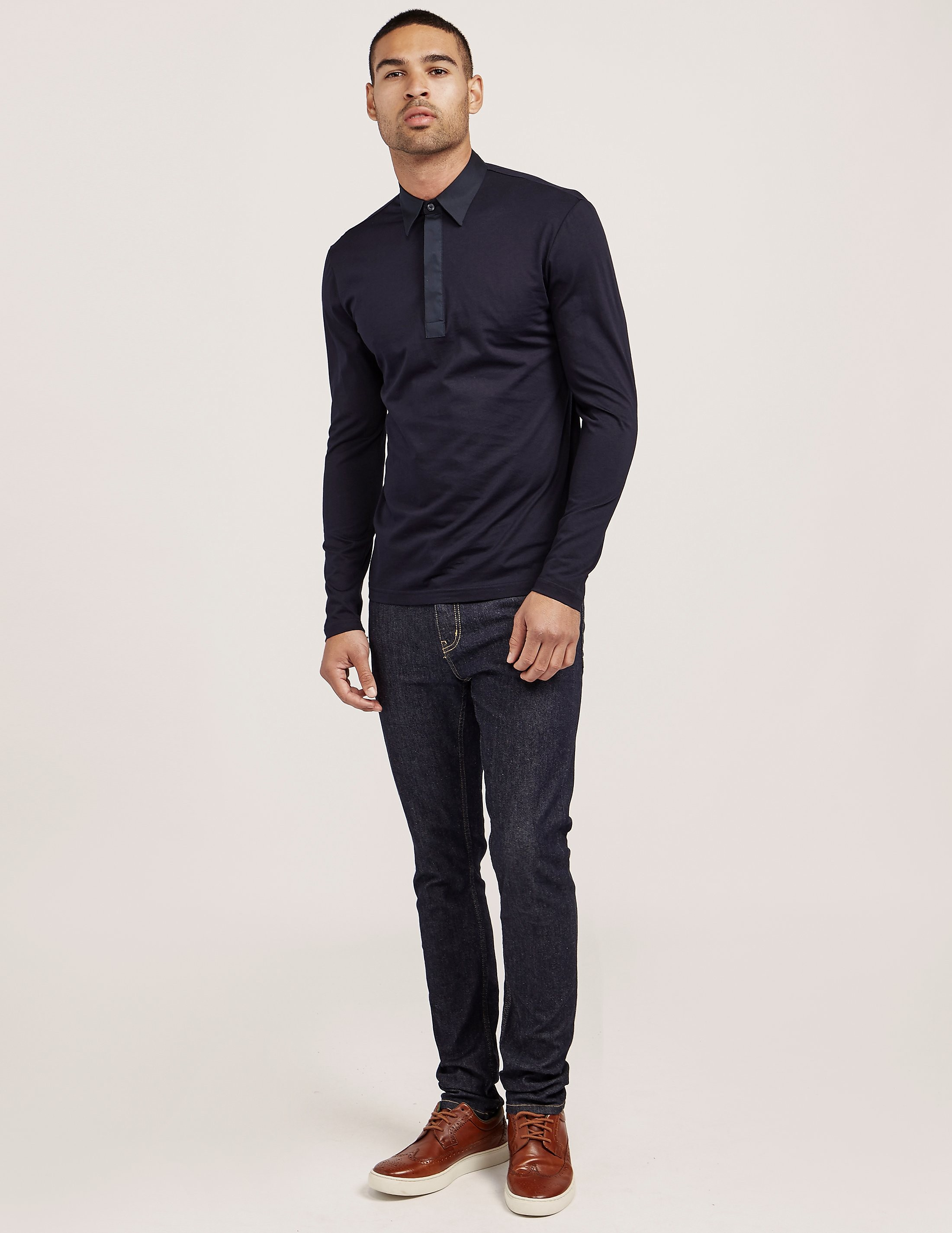 Antony Morato Long Sleeve Polo Shirt