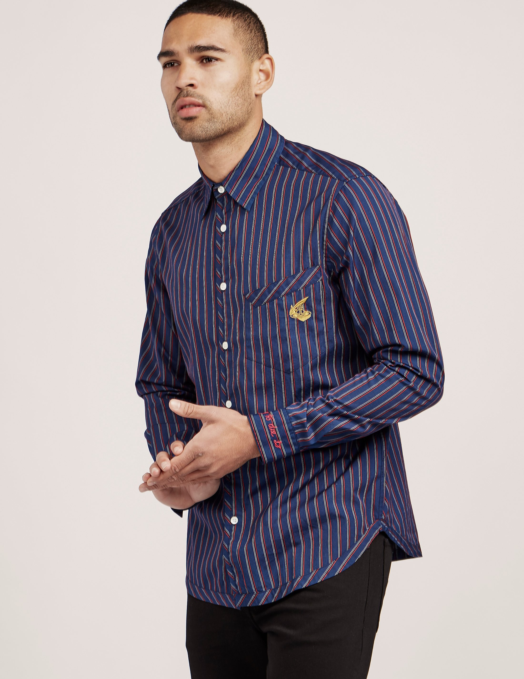 Vivienne Westwood Anglomania Striped Long Sleeve Shirt