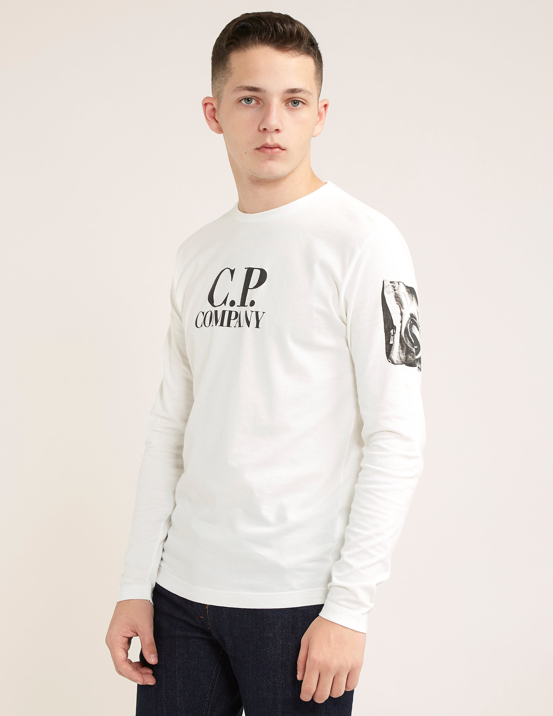 CP Company Lens Logo Long Sleeve T-Shirt