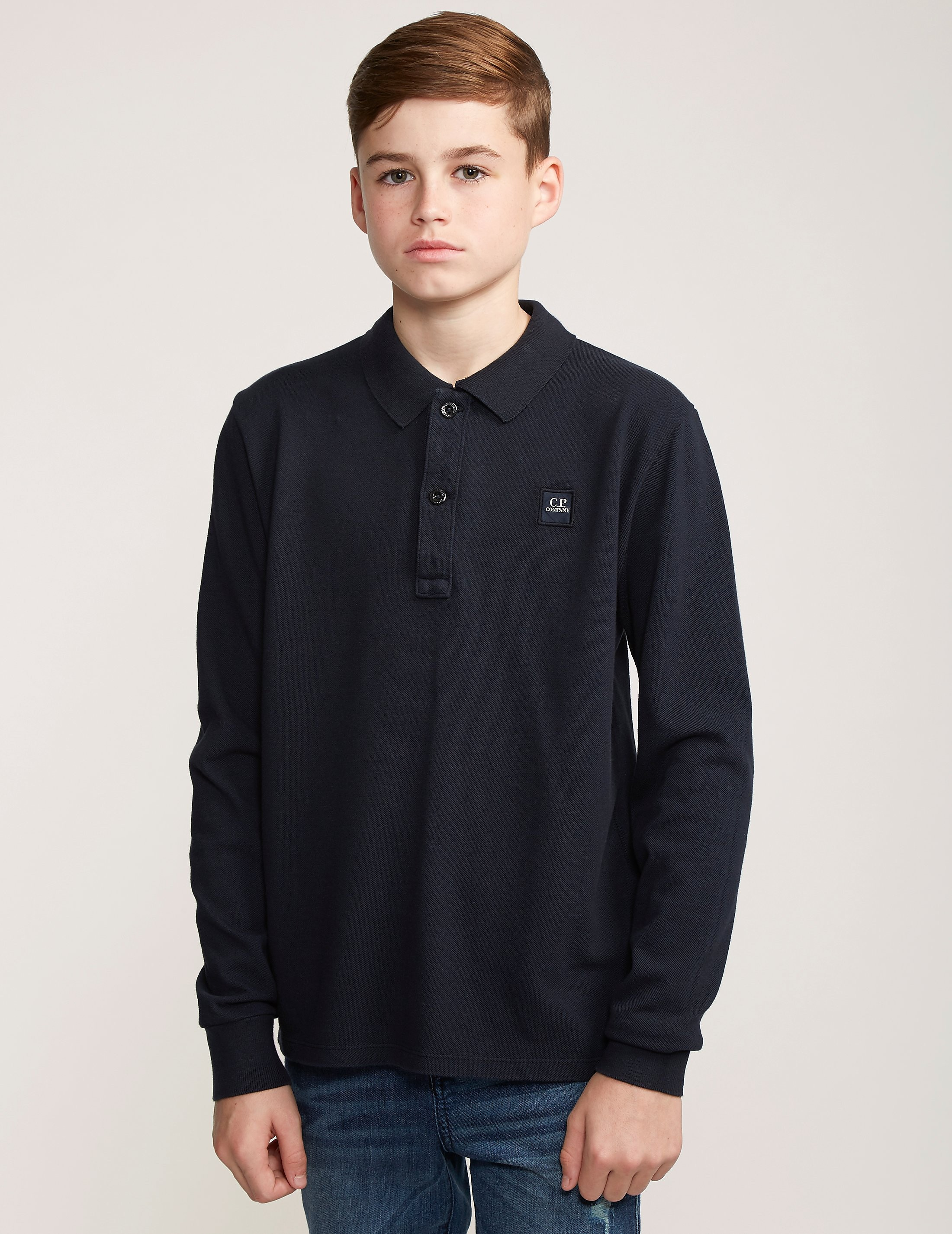 CP Company Patch Long Sleeve Polo Shirt