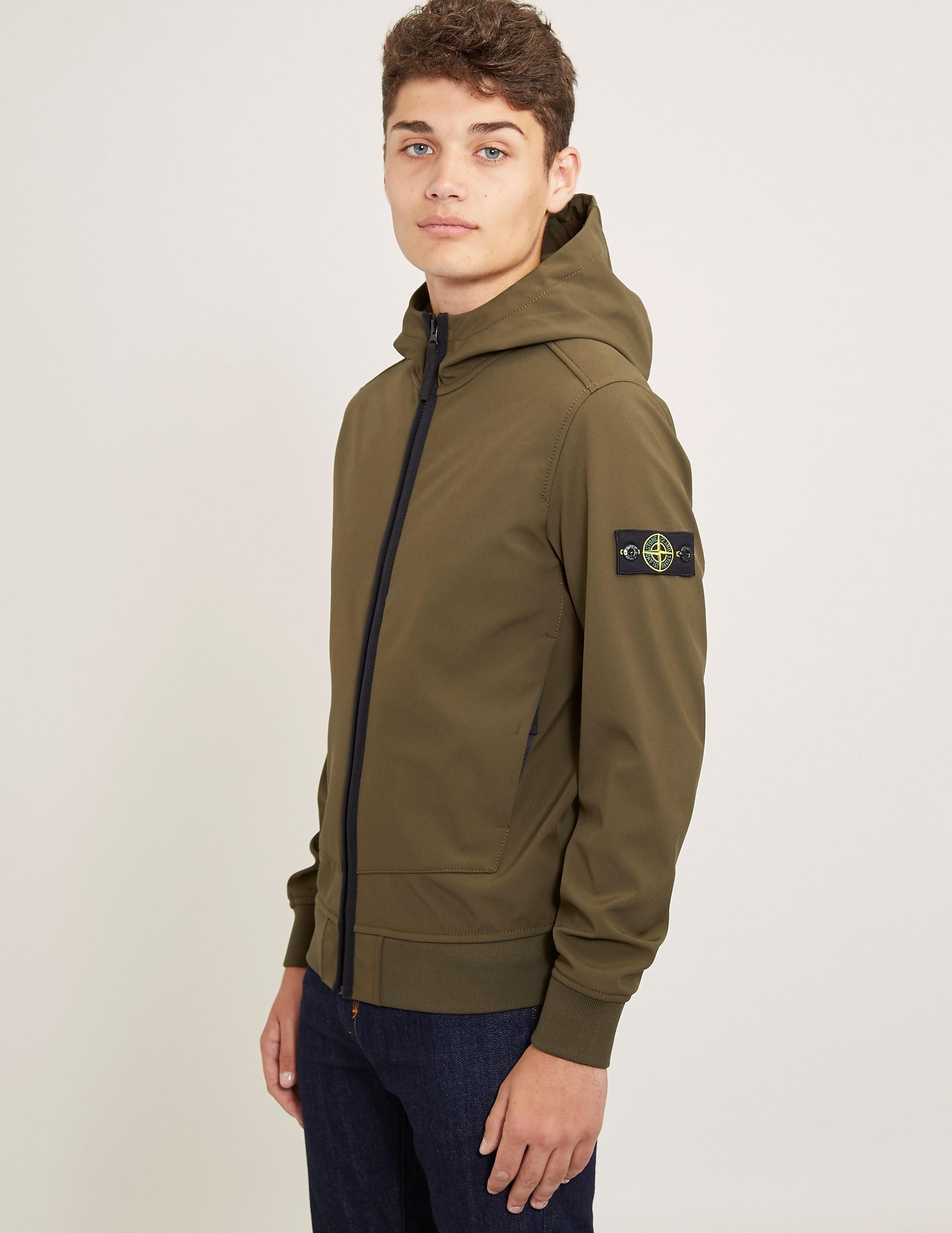 Stone Island Softshell Hooded Padded Jacket
