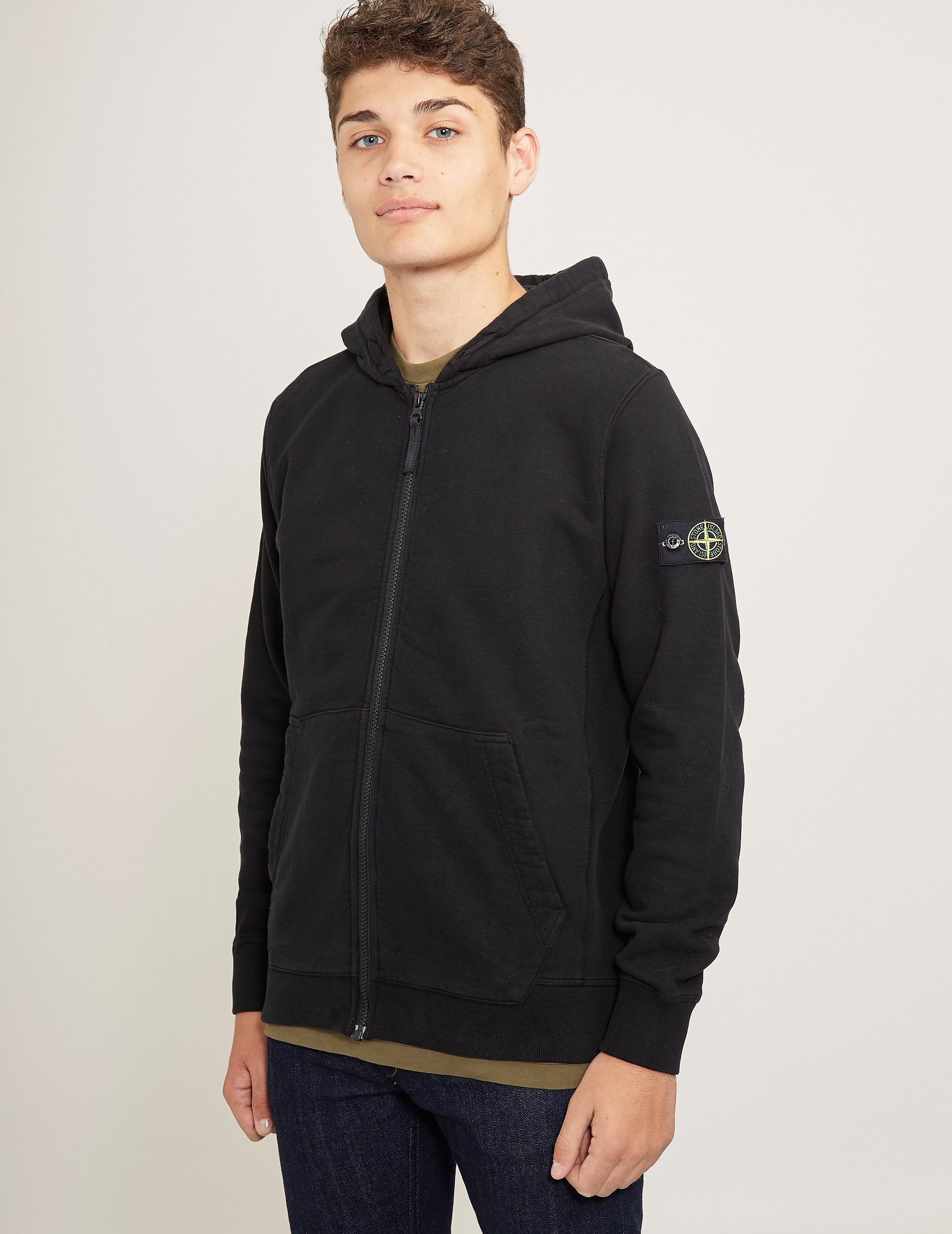 Stone Island Badge Full Zip Hoody
