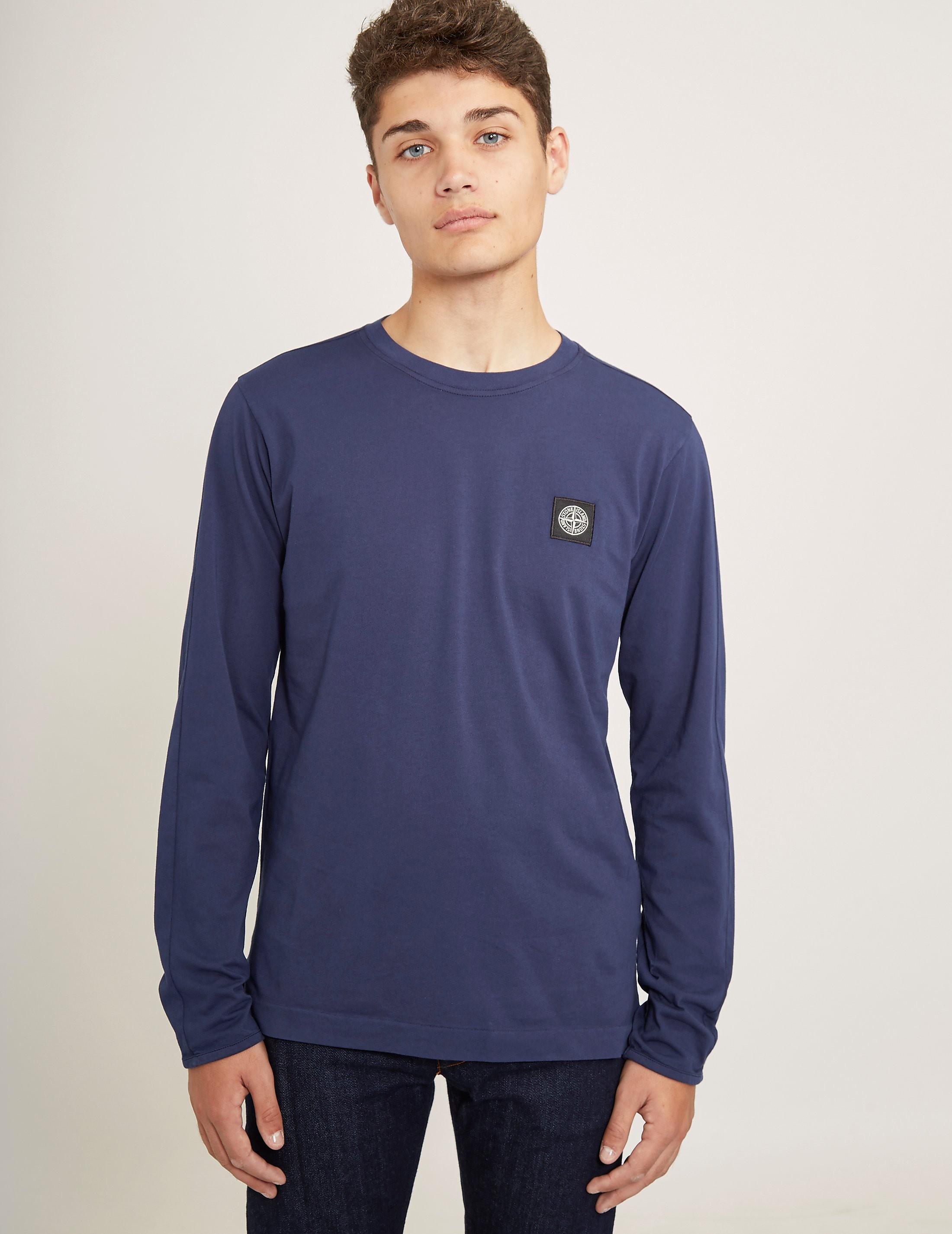 Stone Island Patch Long Sleeve T-Shirt