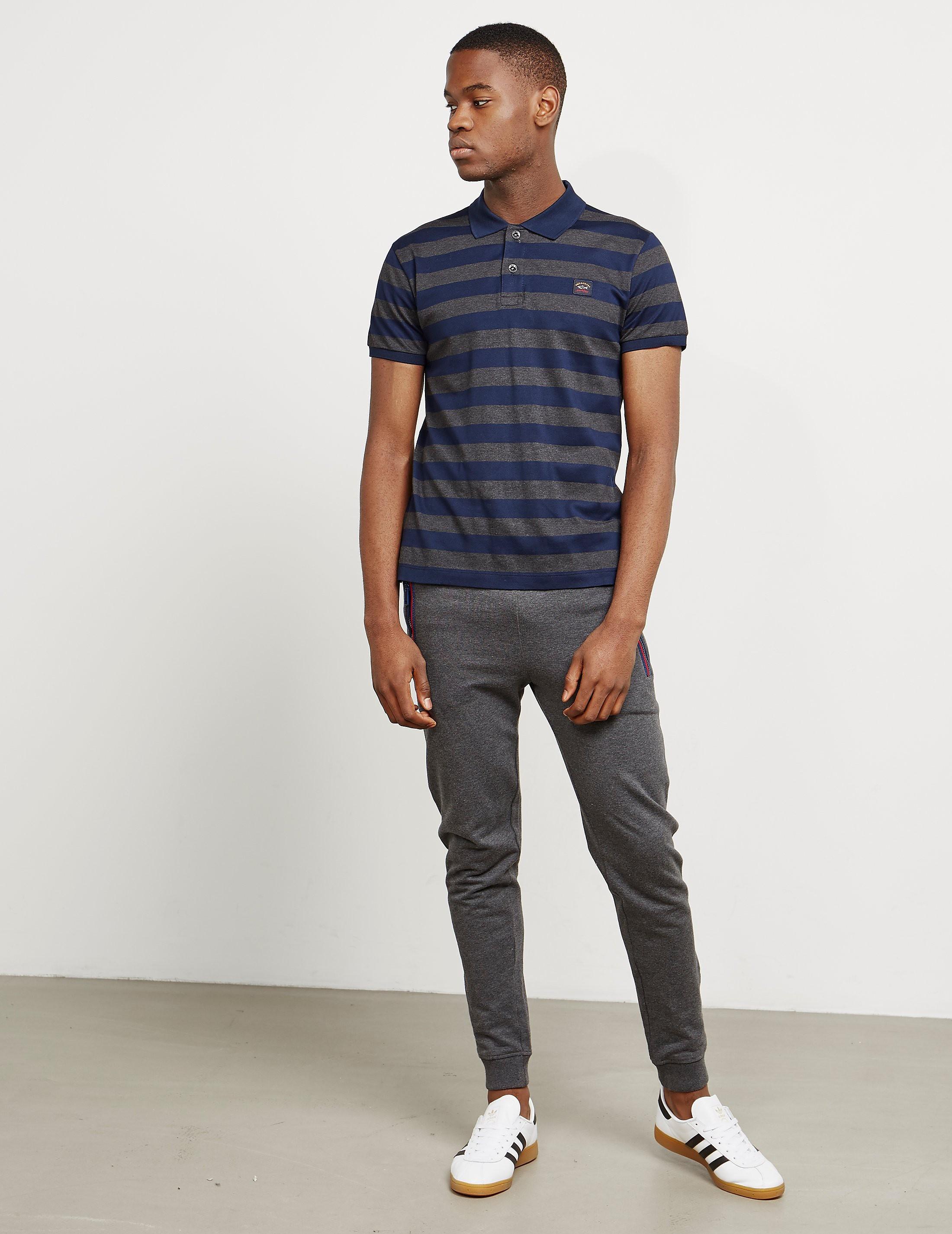 Paul and Shark Pique Striped Short Sleeve Polo Shirt