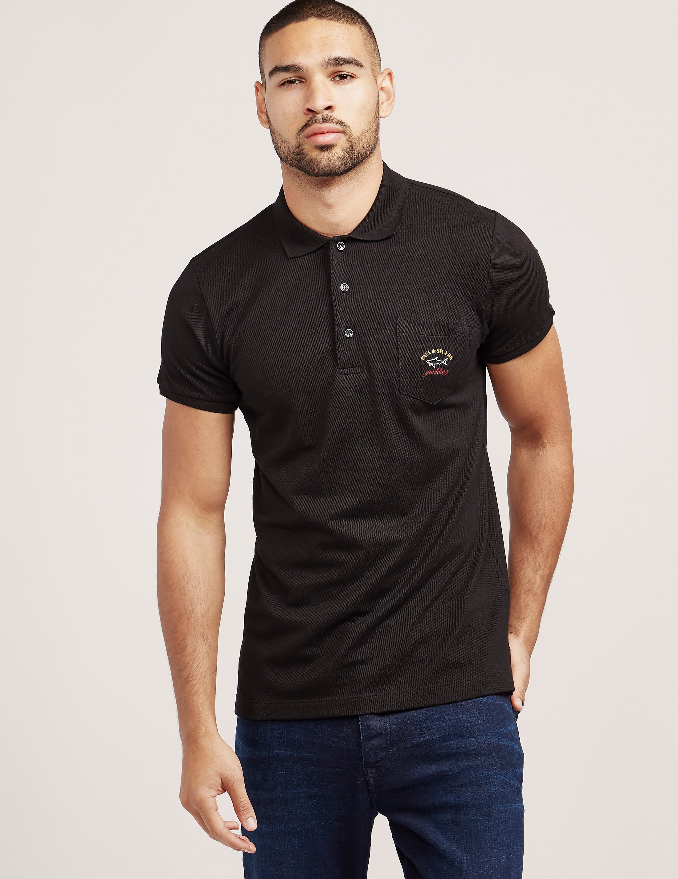 Paul and Shark Pocket Short Sleeve Polo Shirt