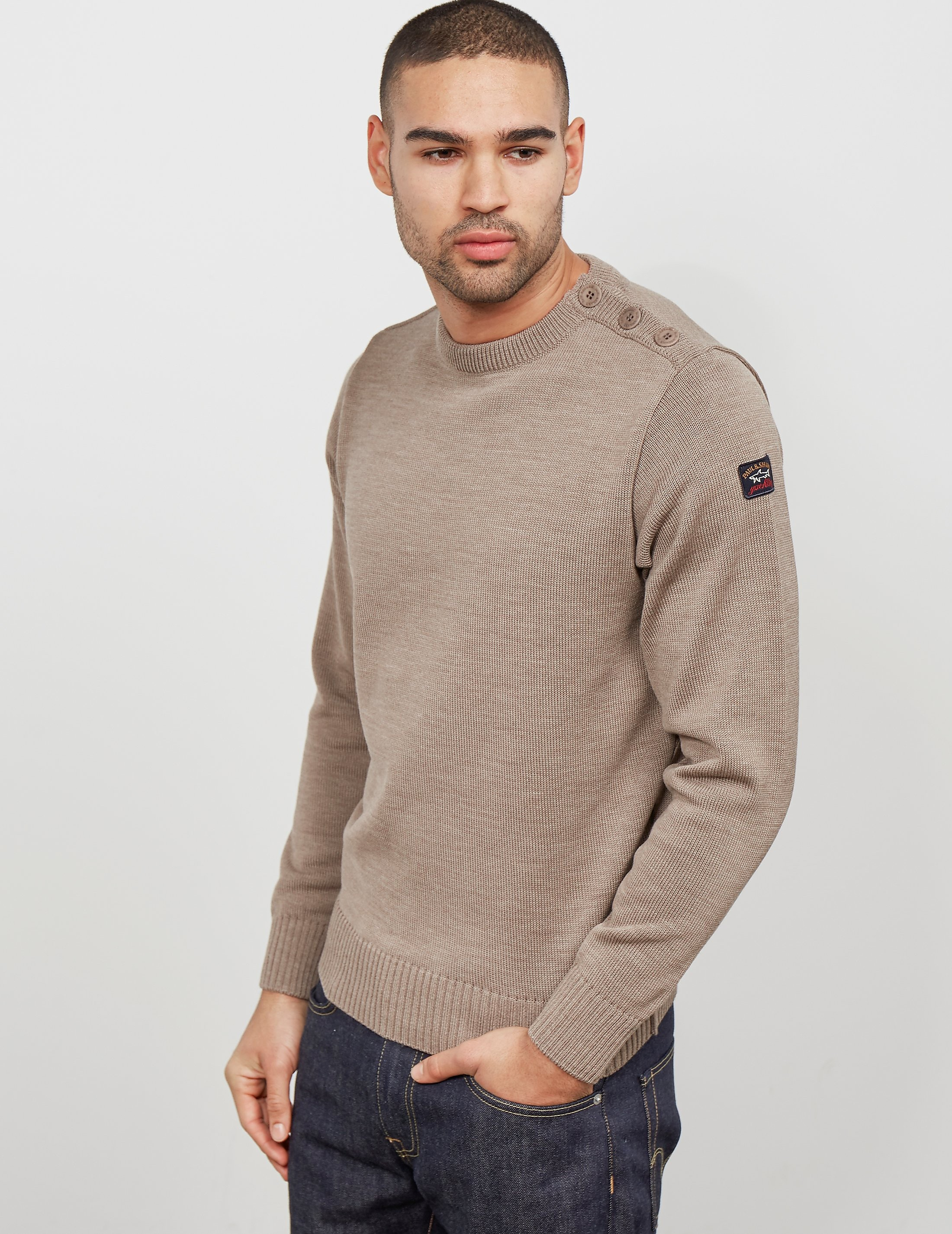 Paul and Shark Button Shoulder Knit - Exclusive