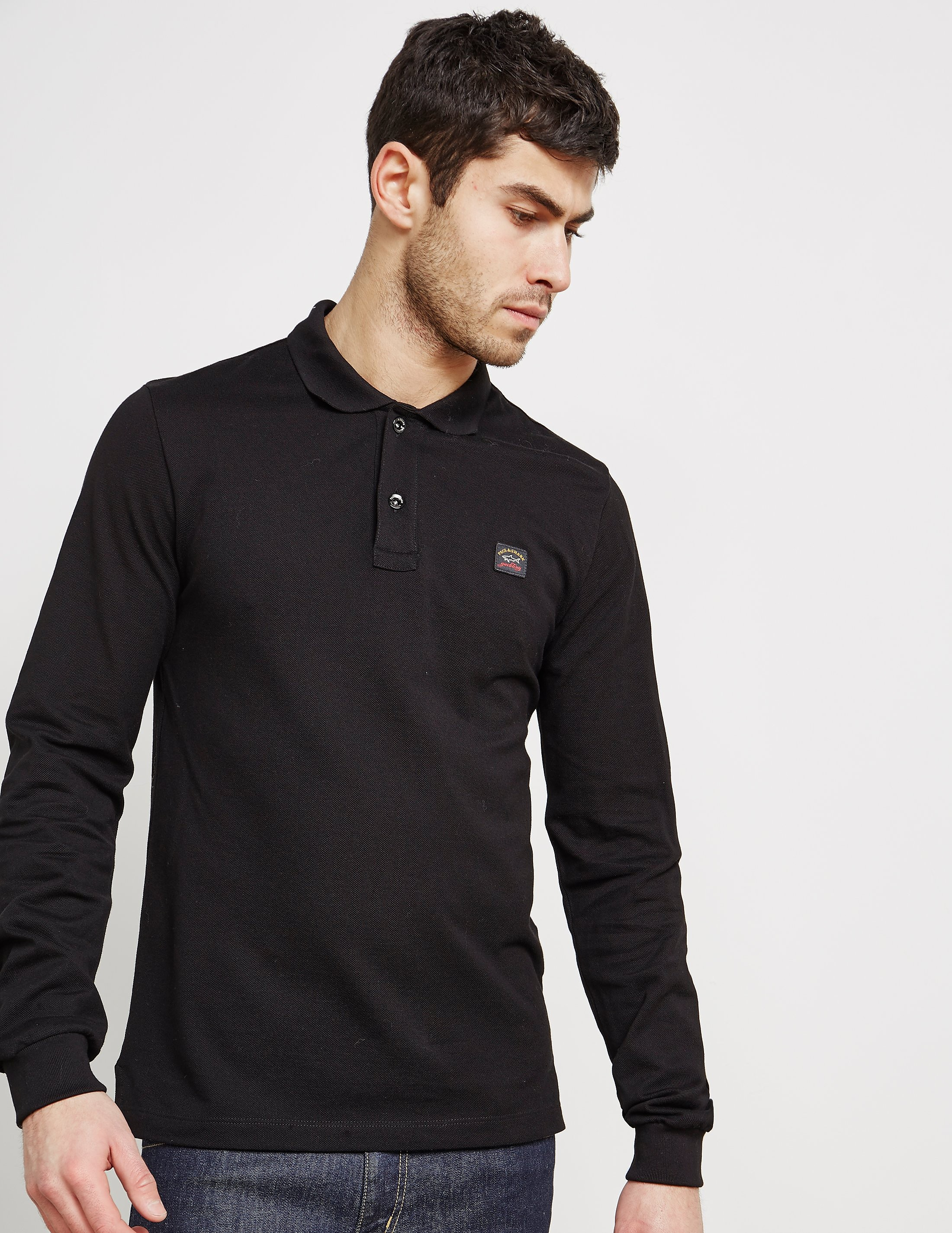 Paul and Shark Pique Long Sleeve Polo Shirt