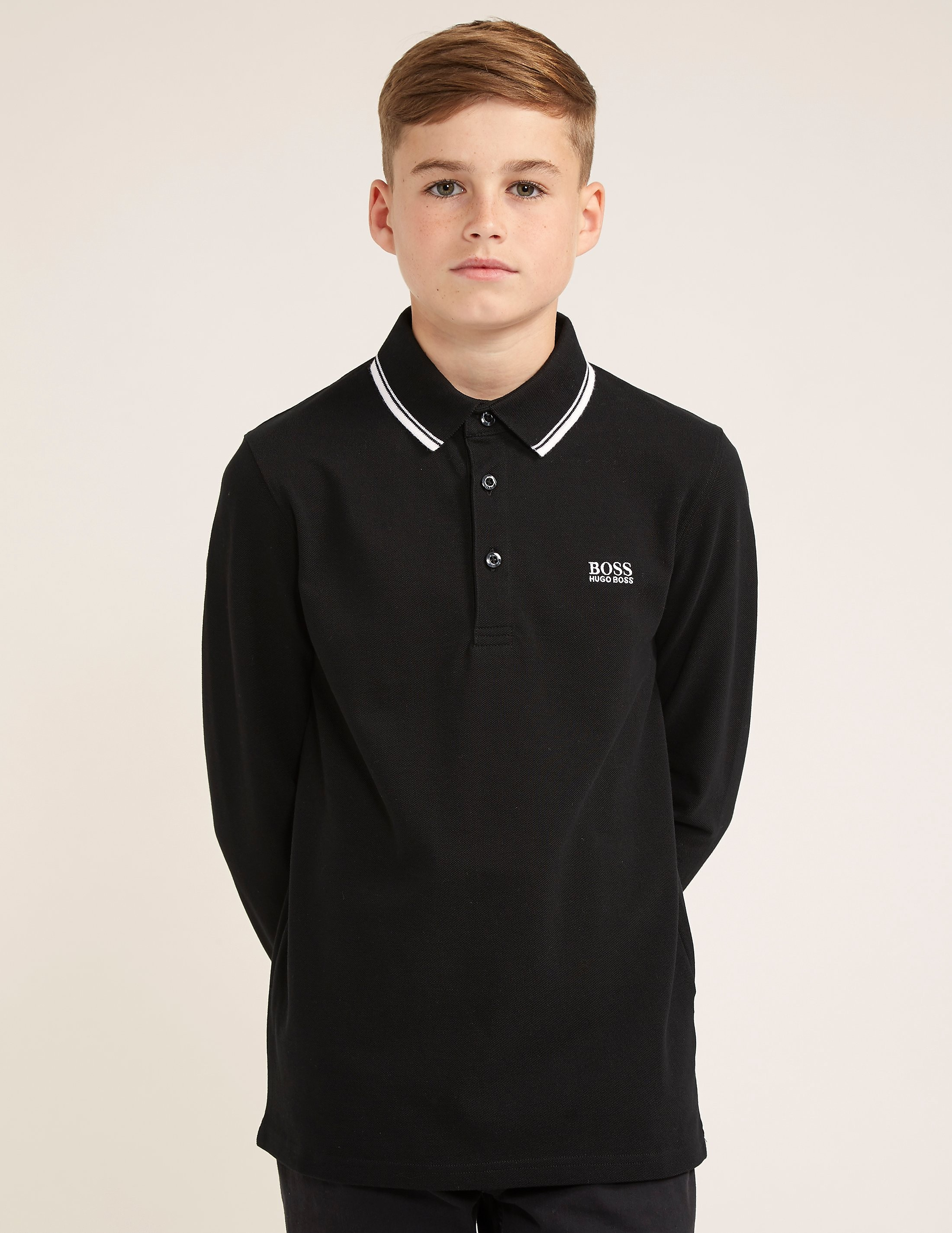 BOSS Basic Long Sleeve Polo Shirt