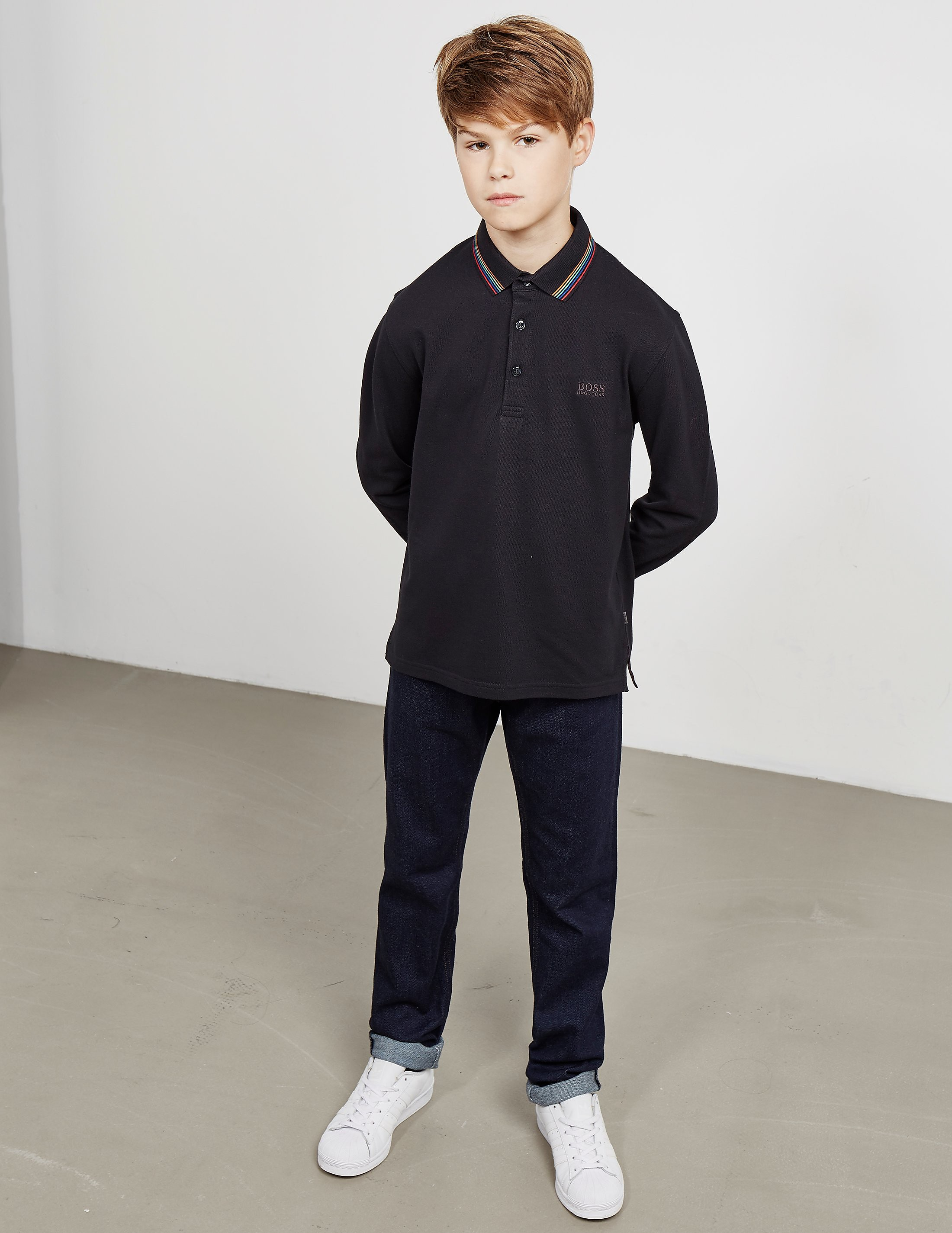 BOSS Special Long Sleeve Polo Shirt