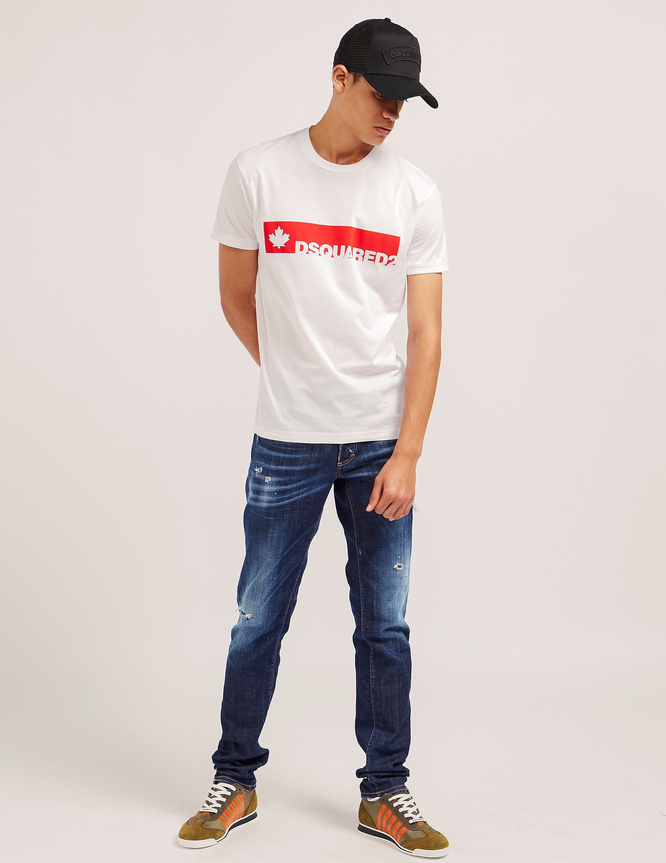 DSQUARED2 Bar Logo Short Sleeve T-Shirt