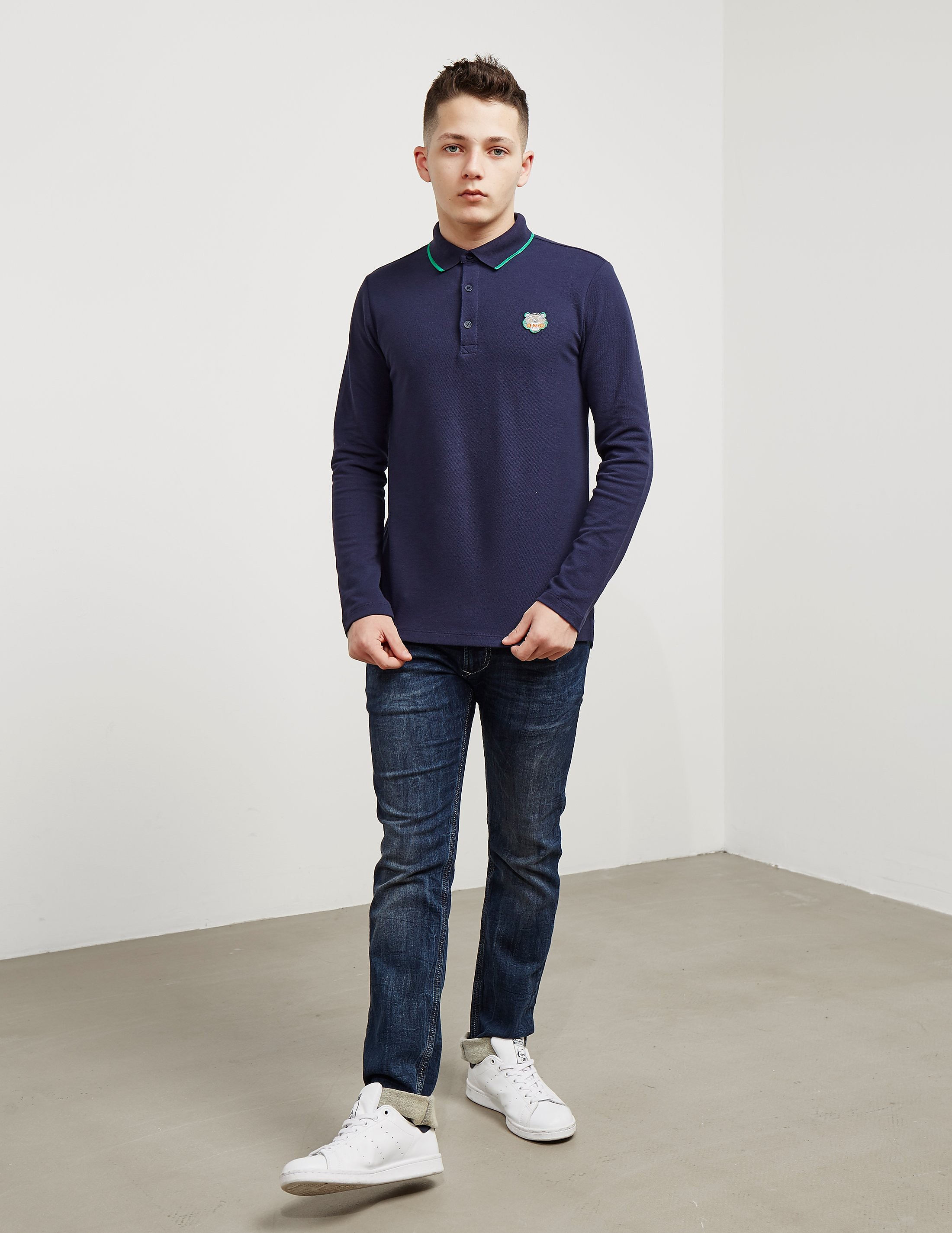 KENZO Tiger Long Sleeve Polo Shirt