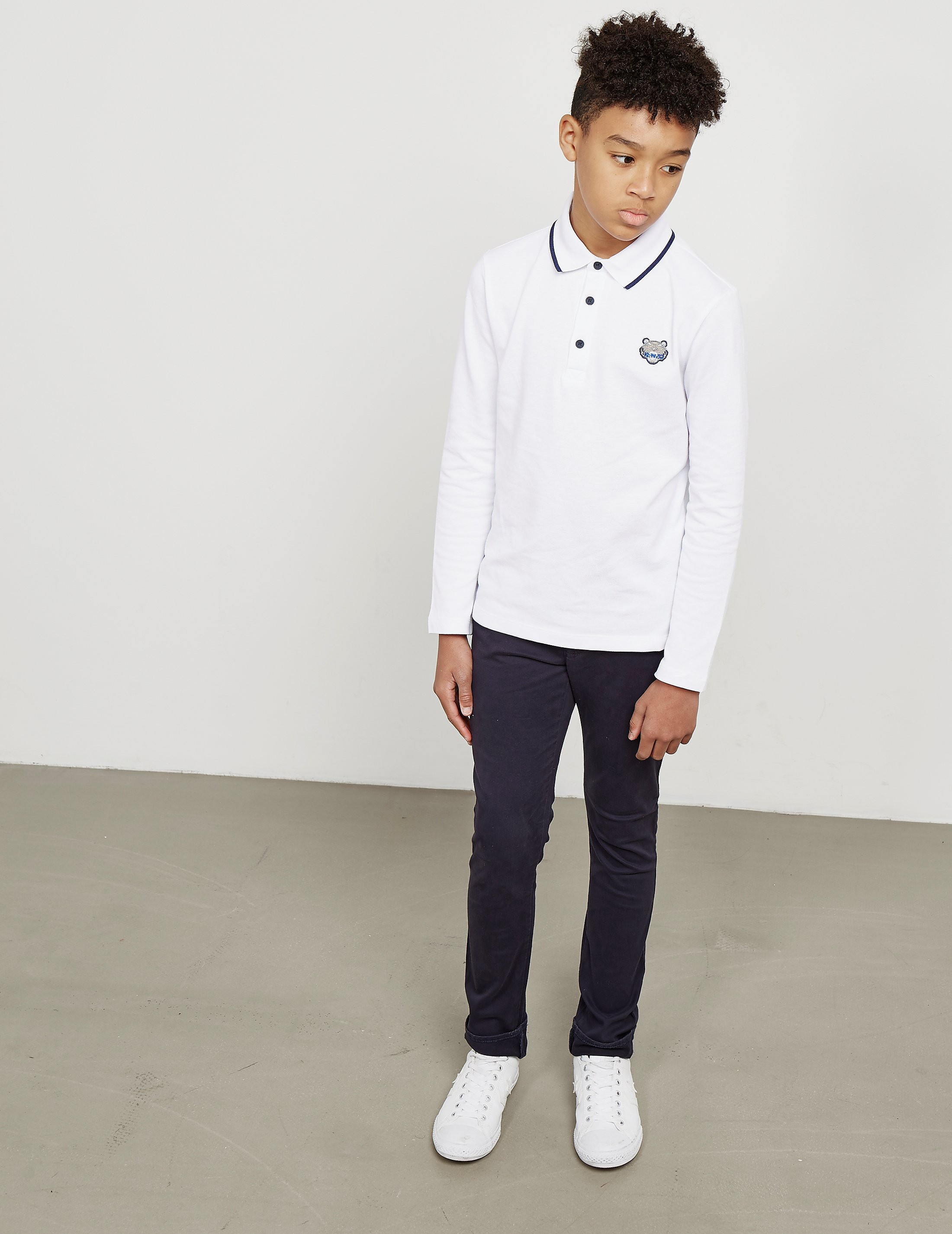 KENZO Tiger Long Sleeve Polo Shirt