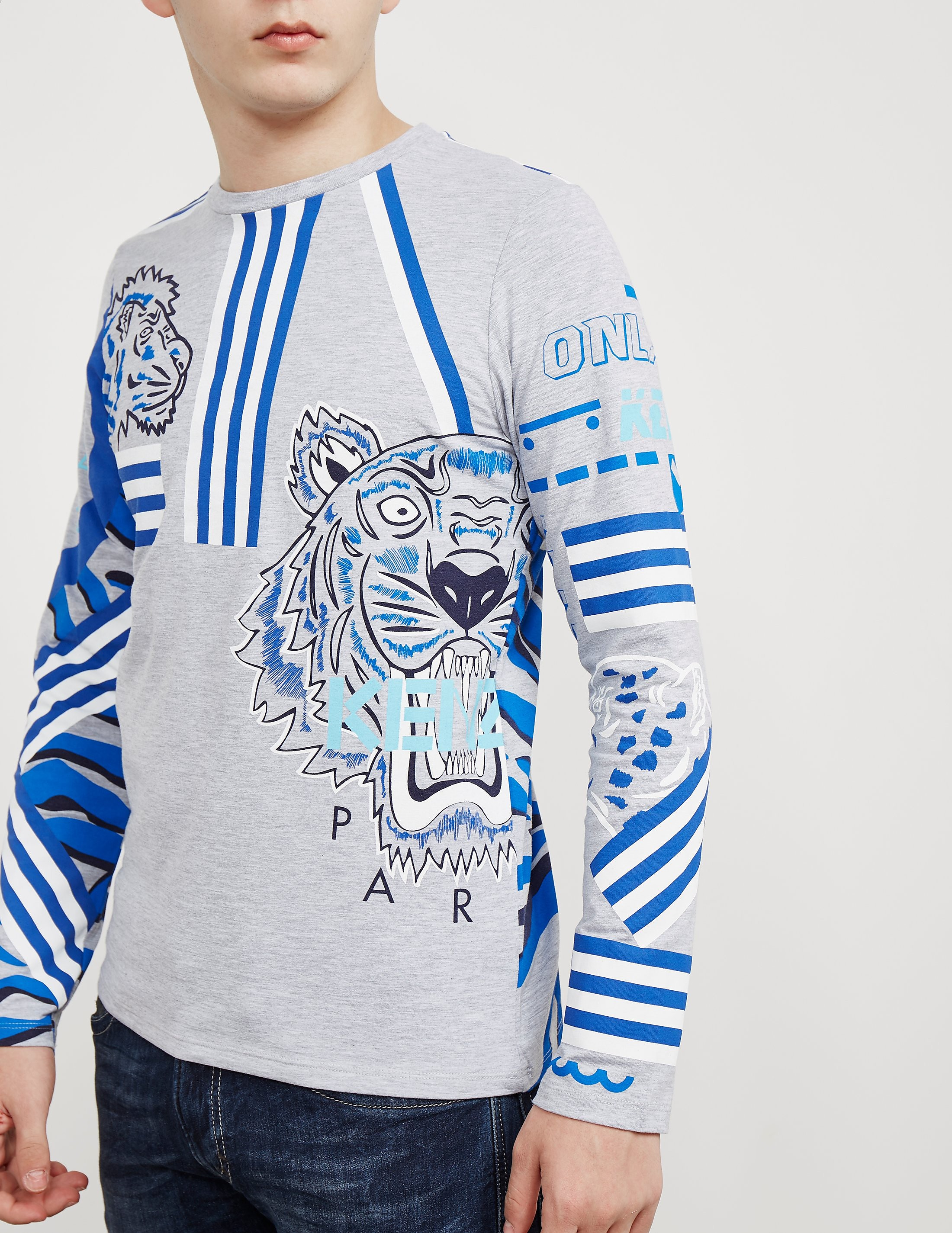 KENZO Tiger Logo Long Sleeve T-Shirt
