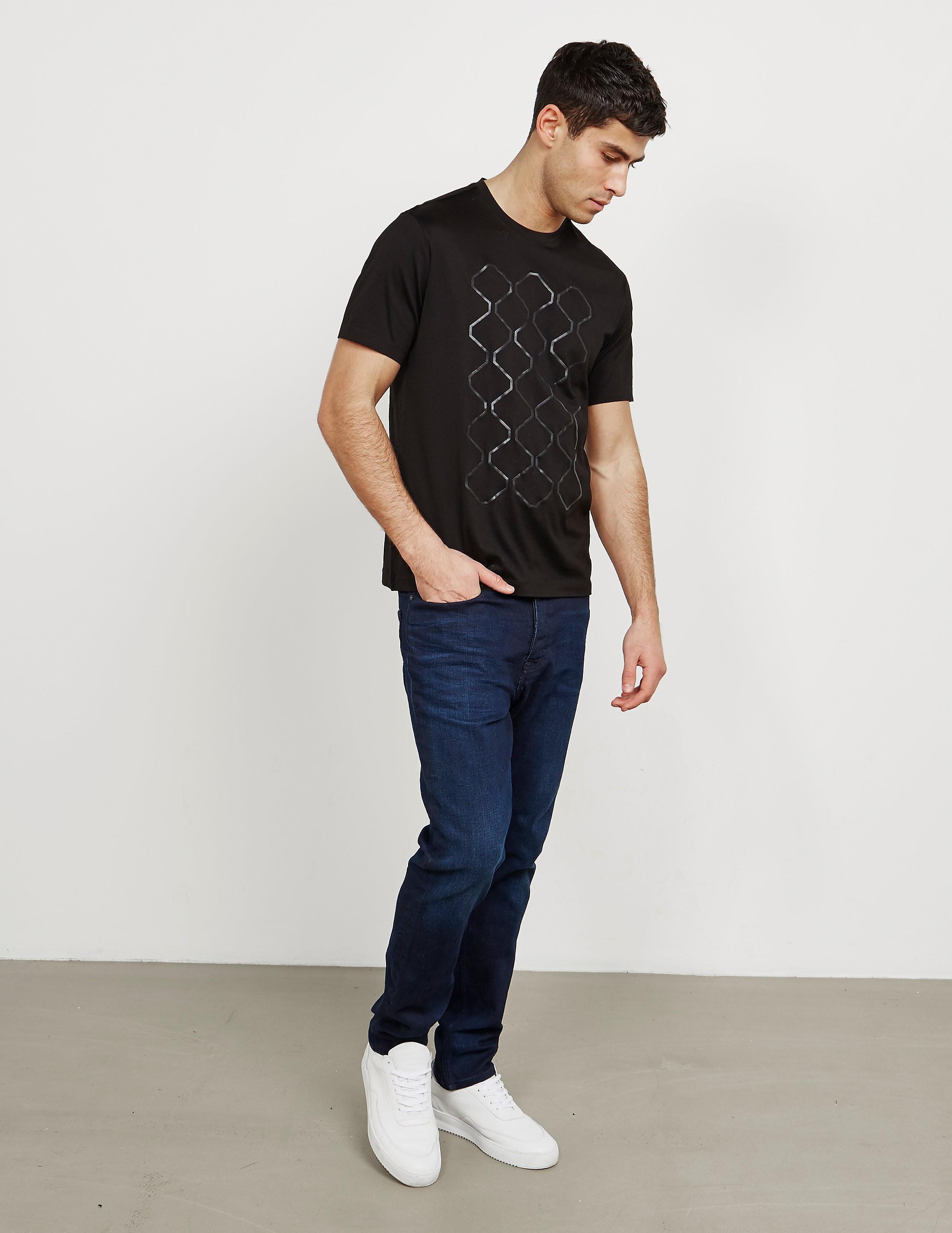 Z Zegna Honeycomb Short Sleeve T-Shirt