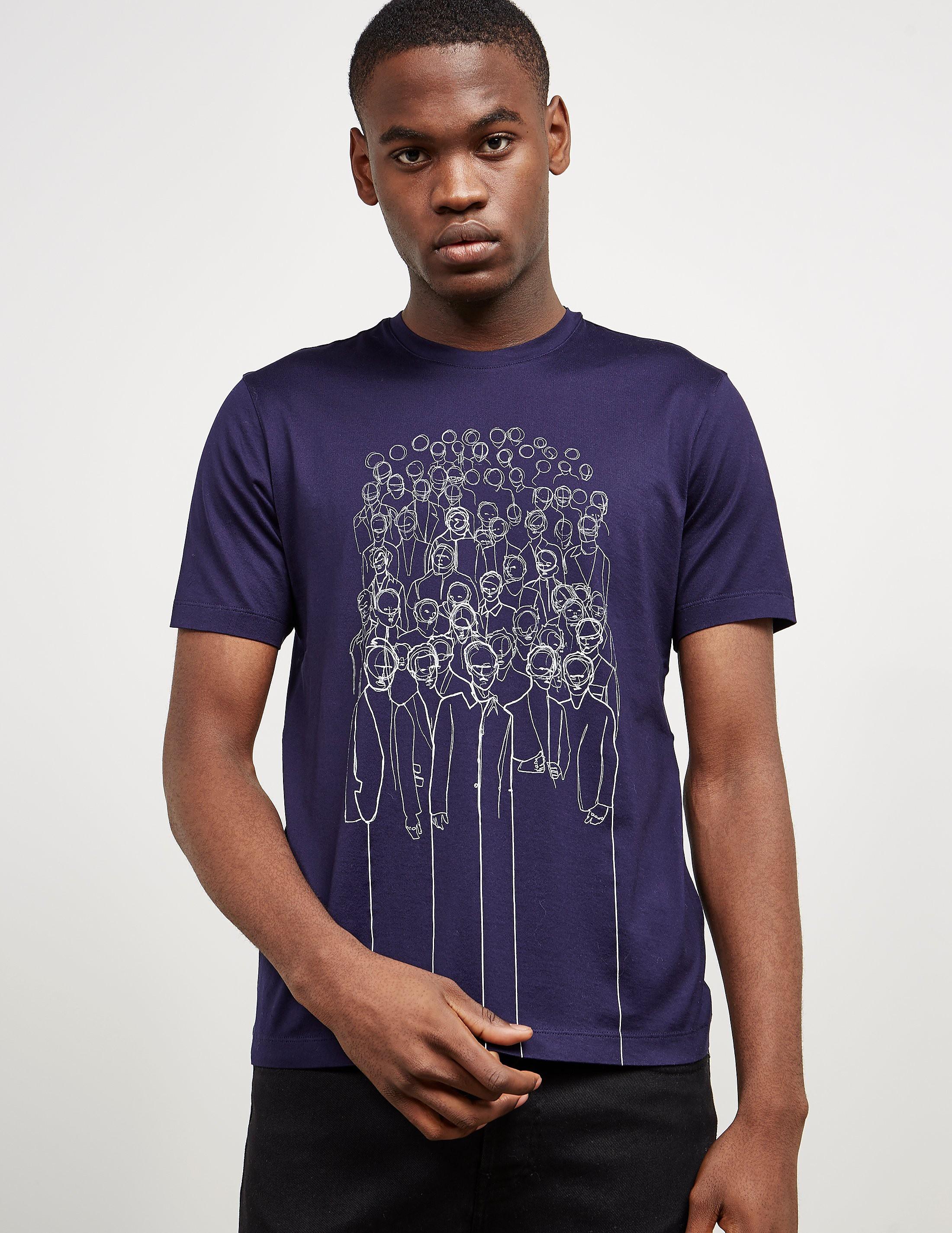 Z Zegna Crowd Short Sleeve T-Shirt