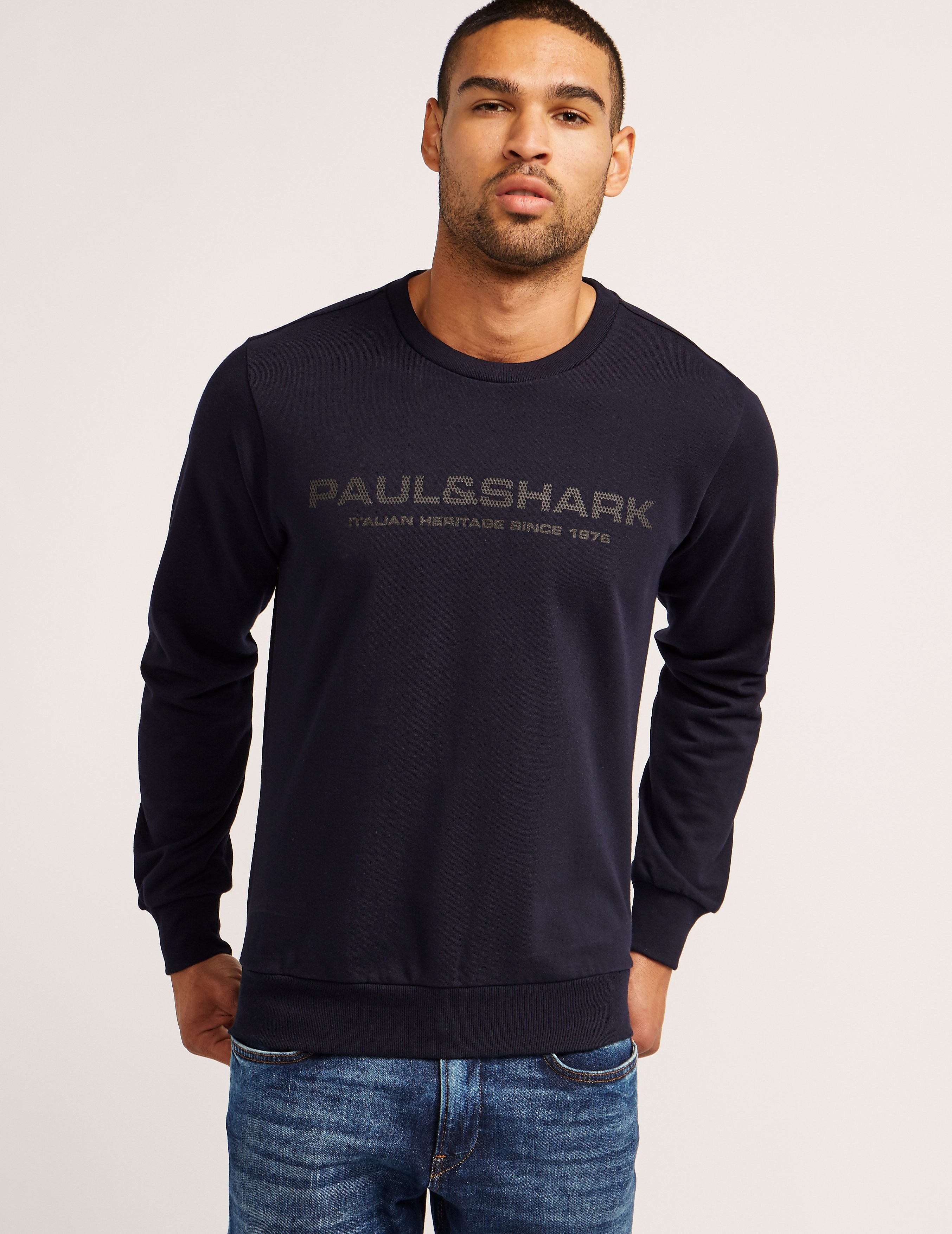 Paul and Shark Mesh Logo Sweatshirt