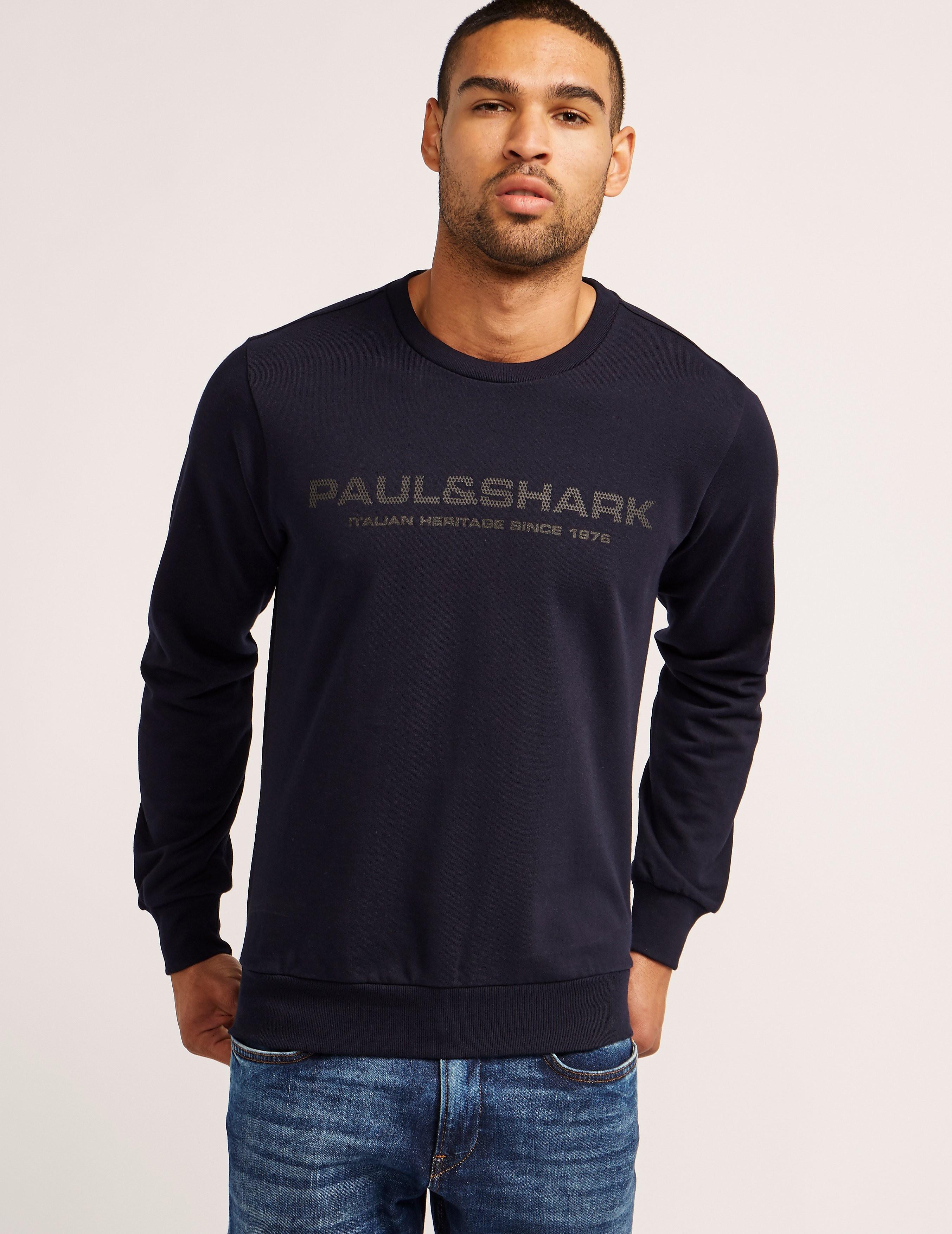 Paul and Shark Mesh Logo Sweatshirt