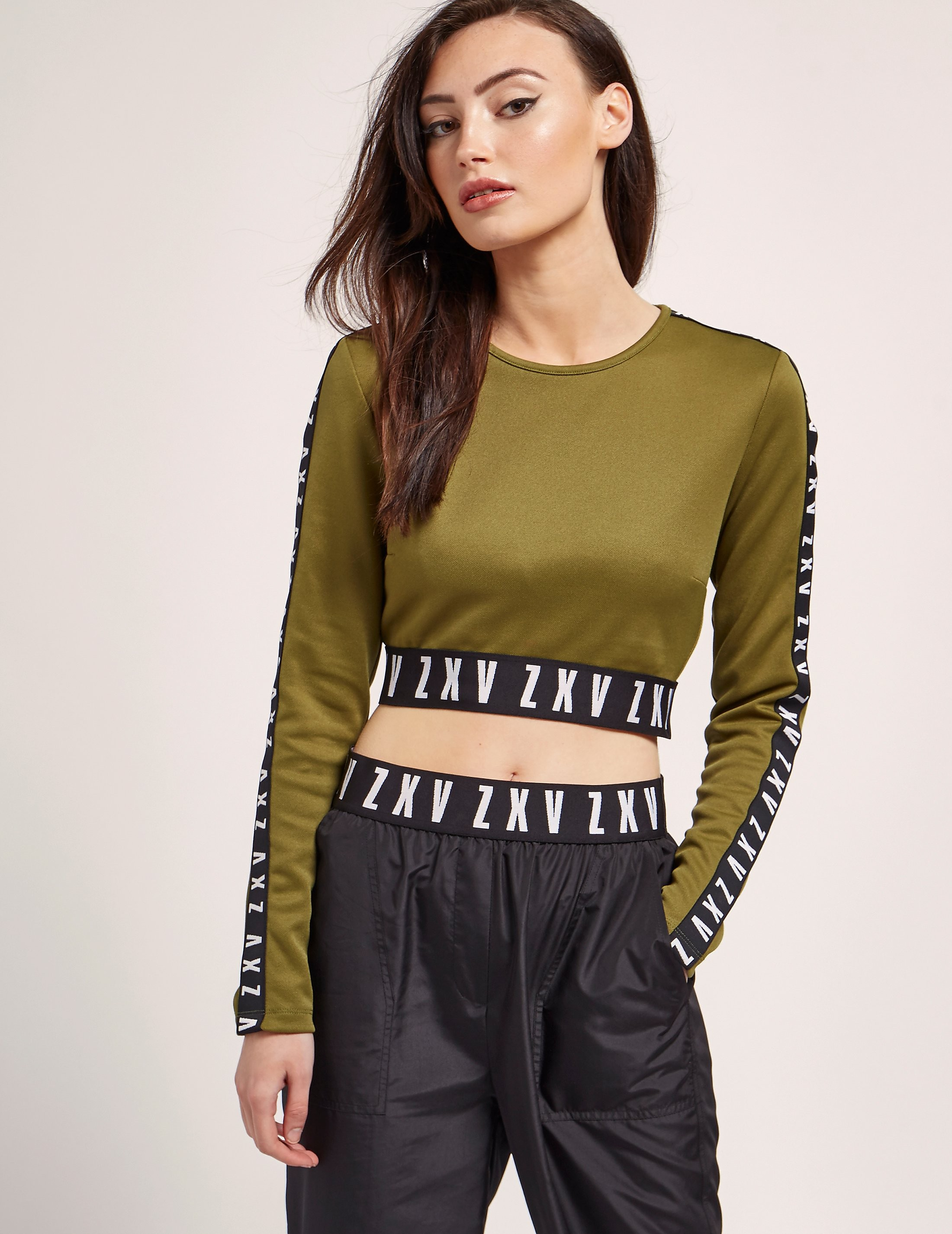 Versus Versace X Zayn Long Sleeve Crop Top