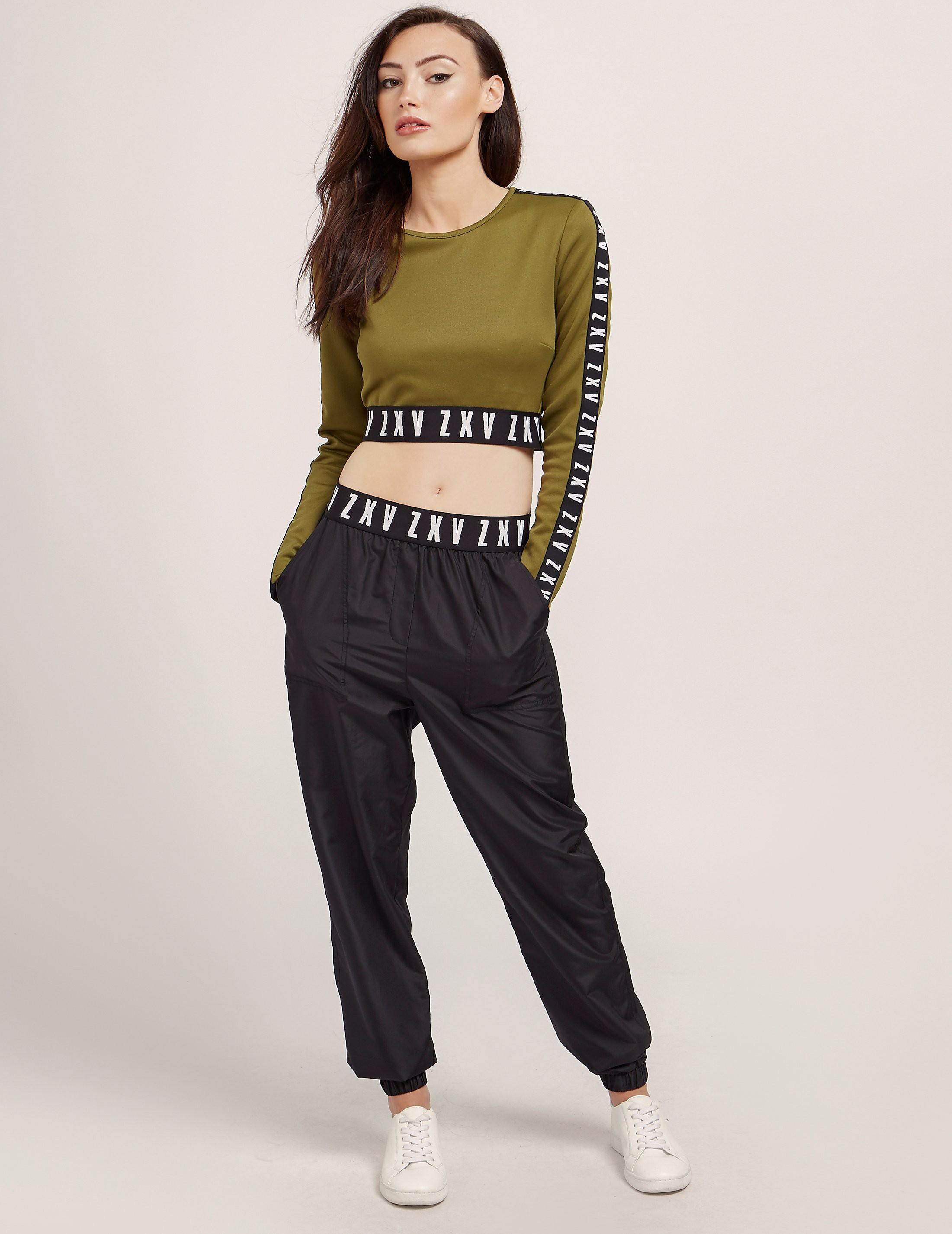 Versus Versace X Zayn Long Sleeve Crop Top
