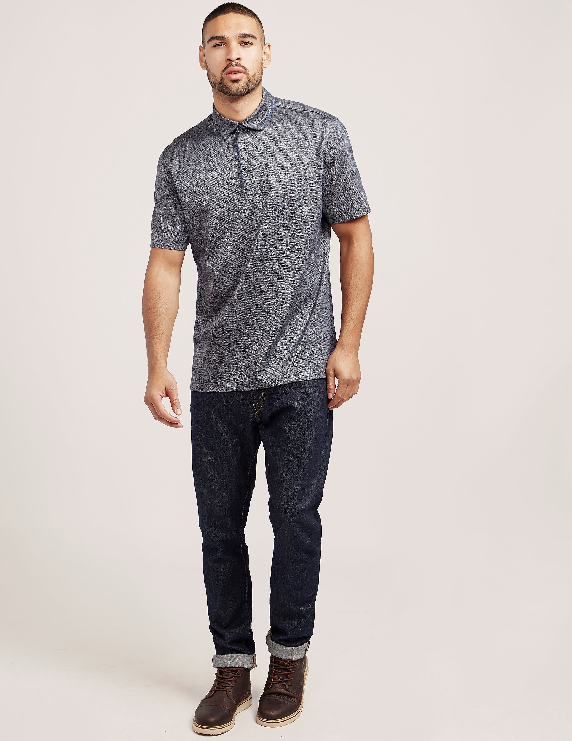 Z Zegna Jacquard Short Sleeve Polo