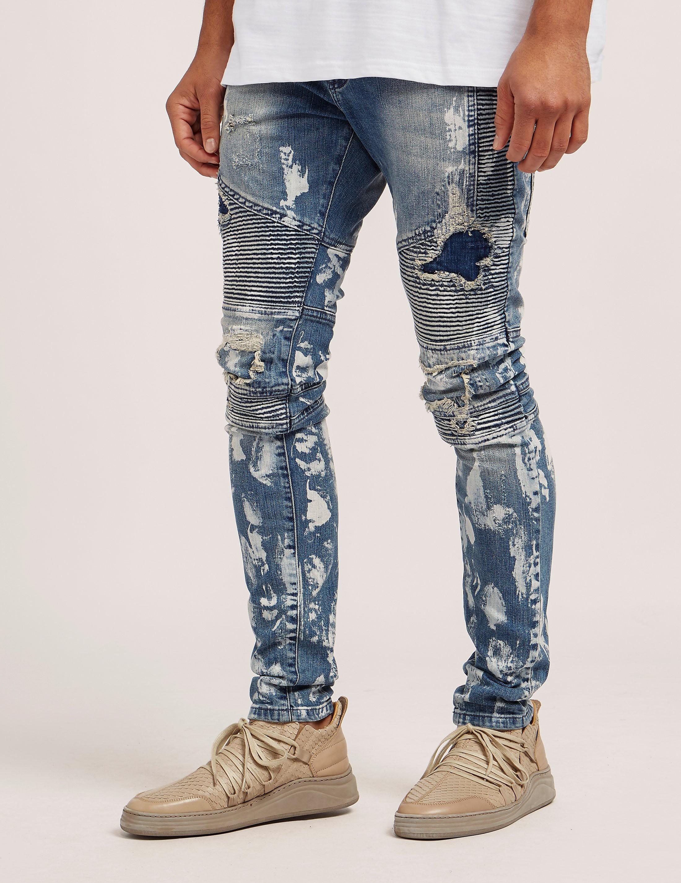 Represent Destroyed Biker Jeans