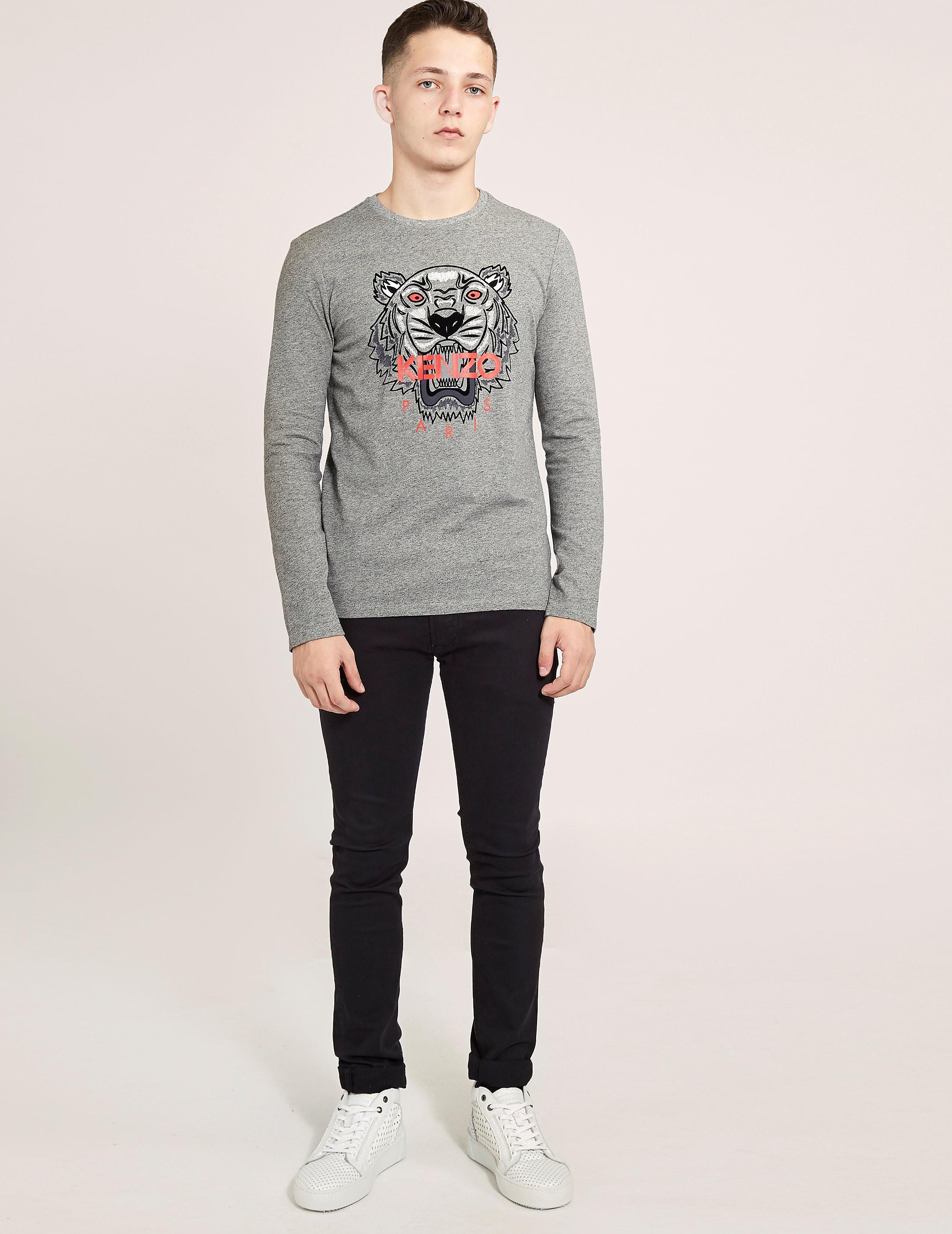 KENZO Tiger Emblem Long Sleeve T-Shirt