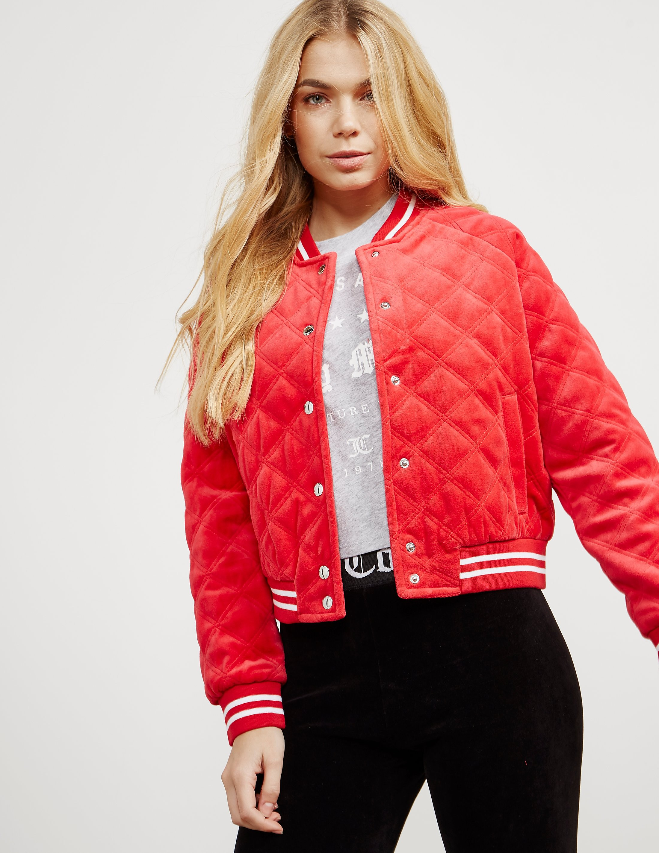 Juicy Couture Quilted Bomber Jacket - Online Exclusive
