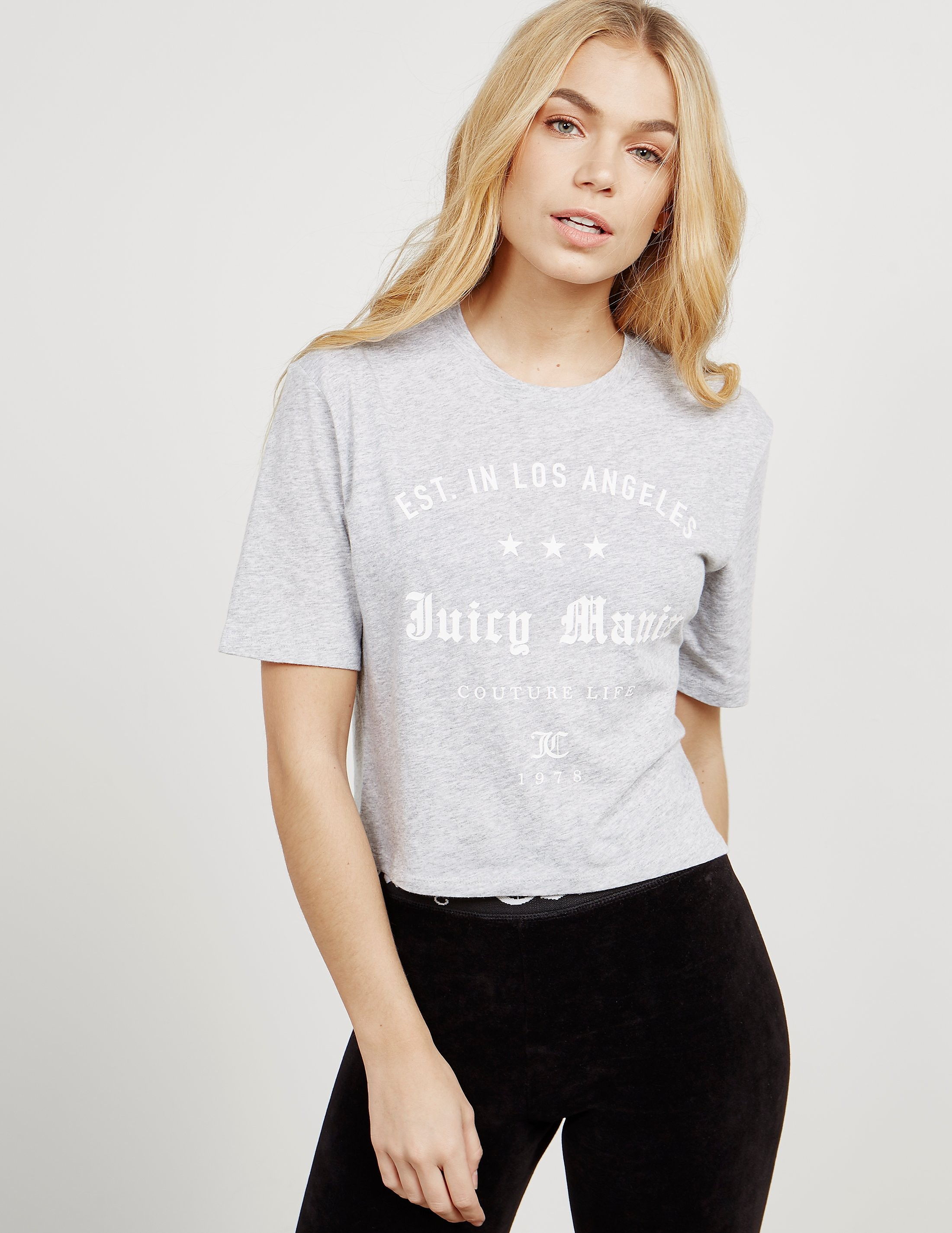 Juicy Couture Mania Cropped Short Sleeve T-Shirt