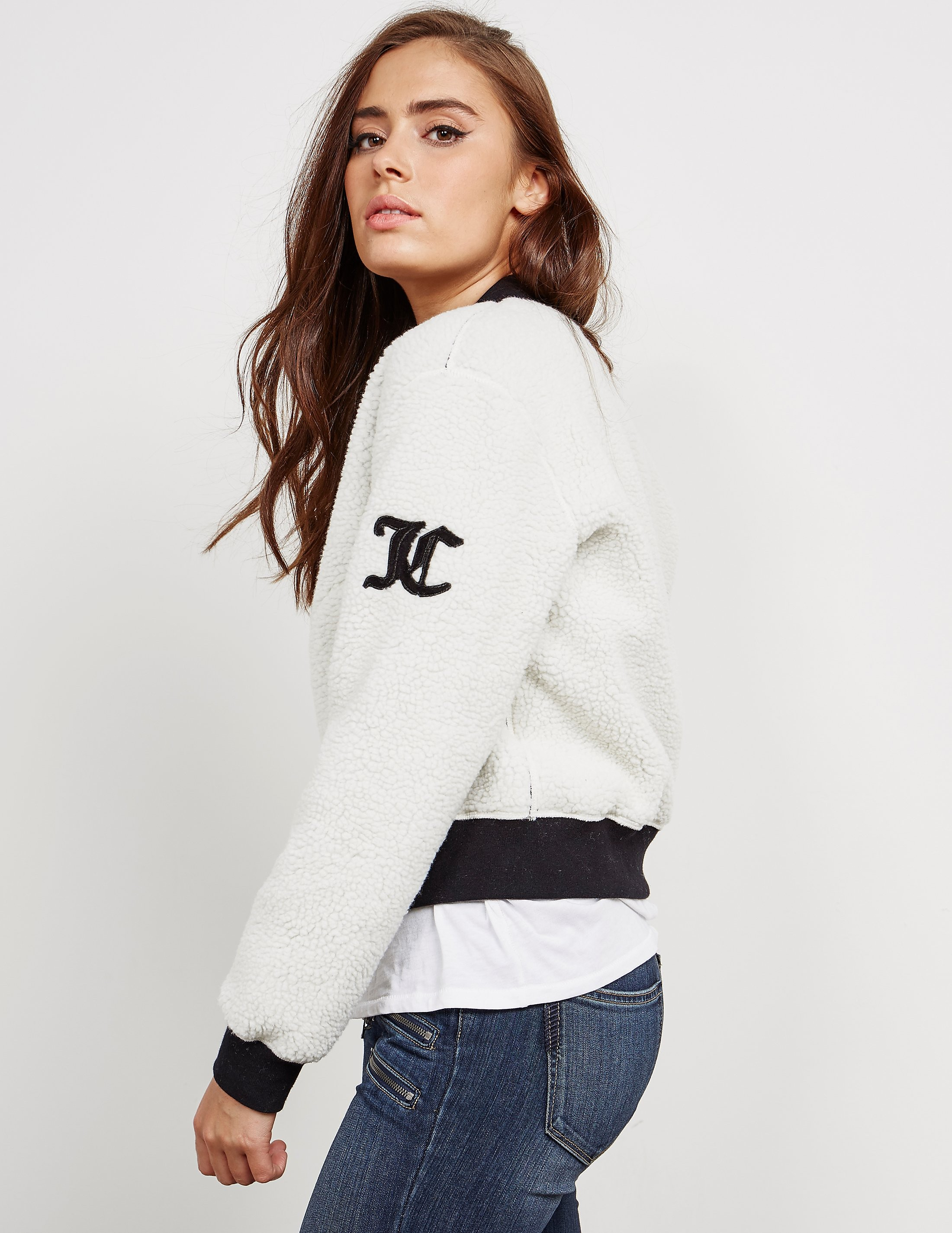 Juicy Couture Sherpa Reversible Bomber Jacket