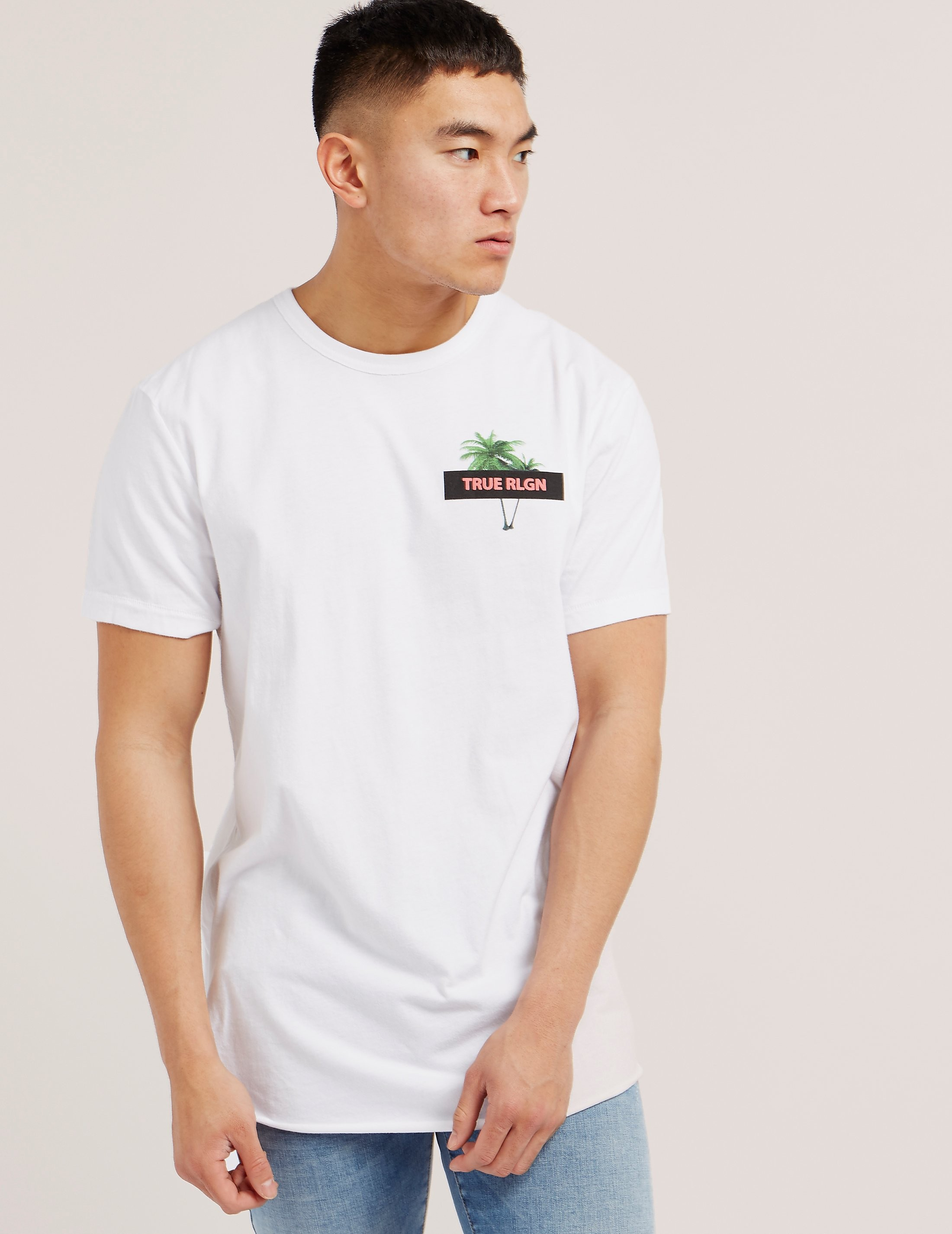True Religion Twin Palms Short Sleeve T-Shirt