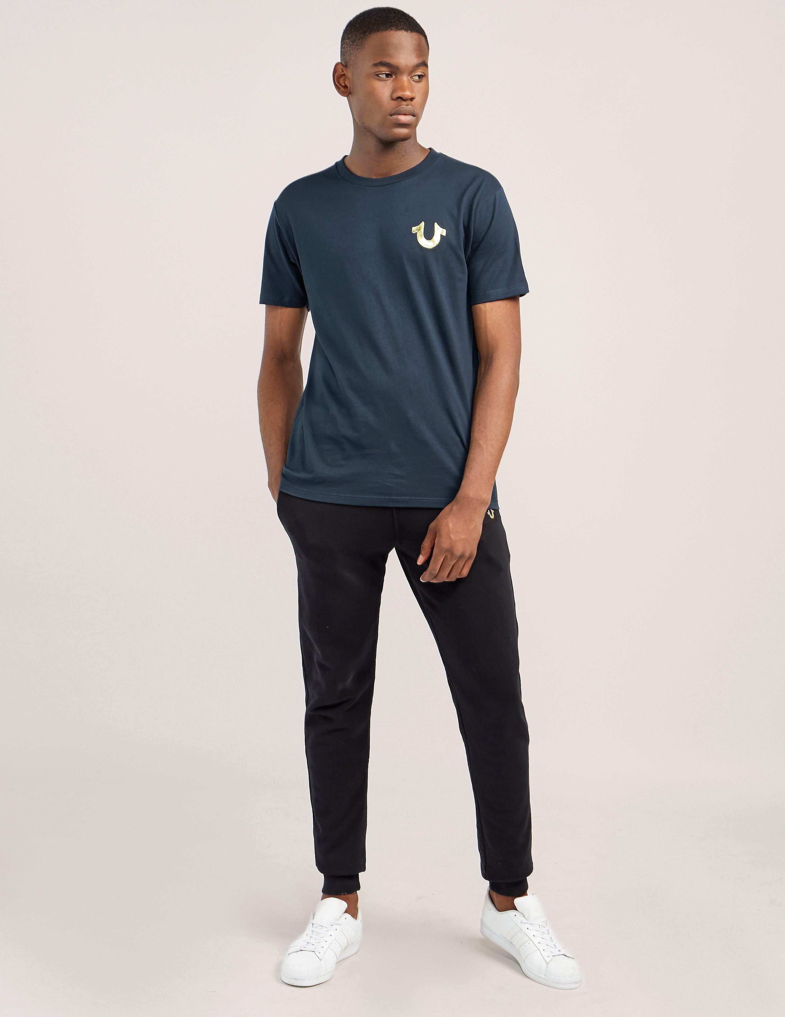 True Religion Gold Puff Short Sleeve T-Shirt