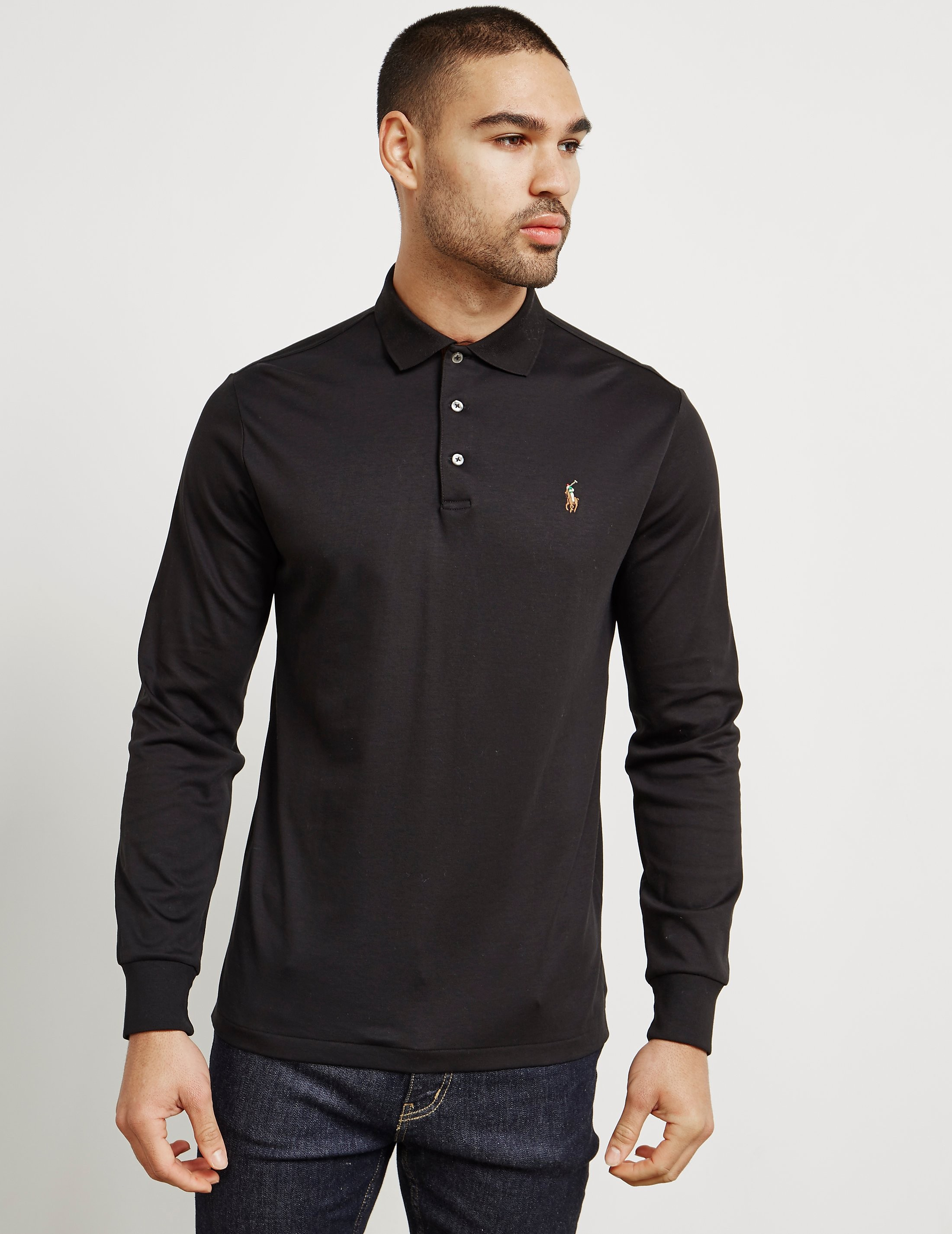 Polo Ralph Lauren Pima Cotton Long Sleeve Polo Shirt