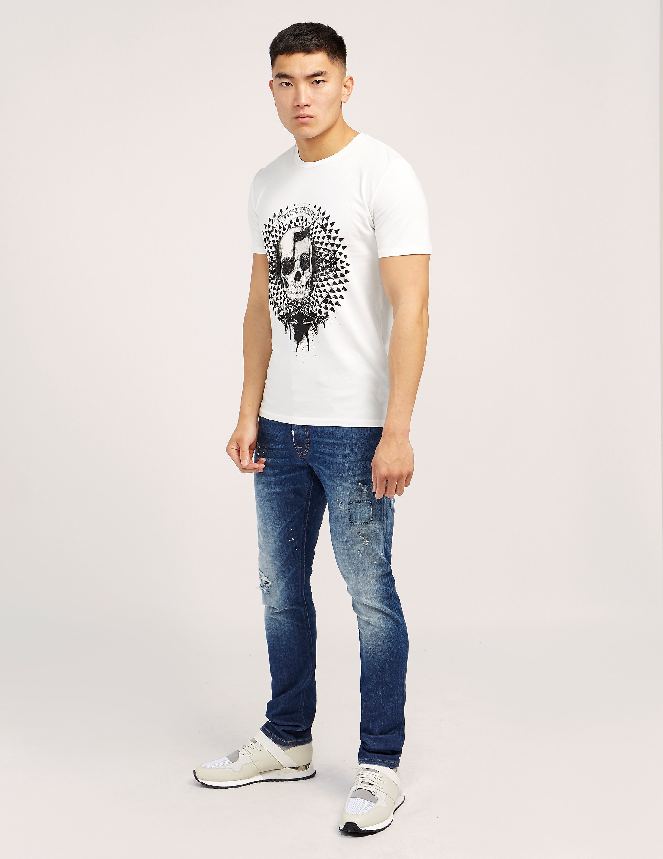 Just Cavalli Musical Skull Print Short Sleeve T-Shir t