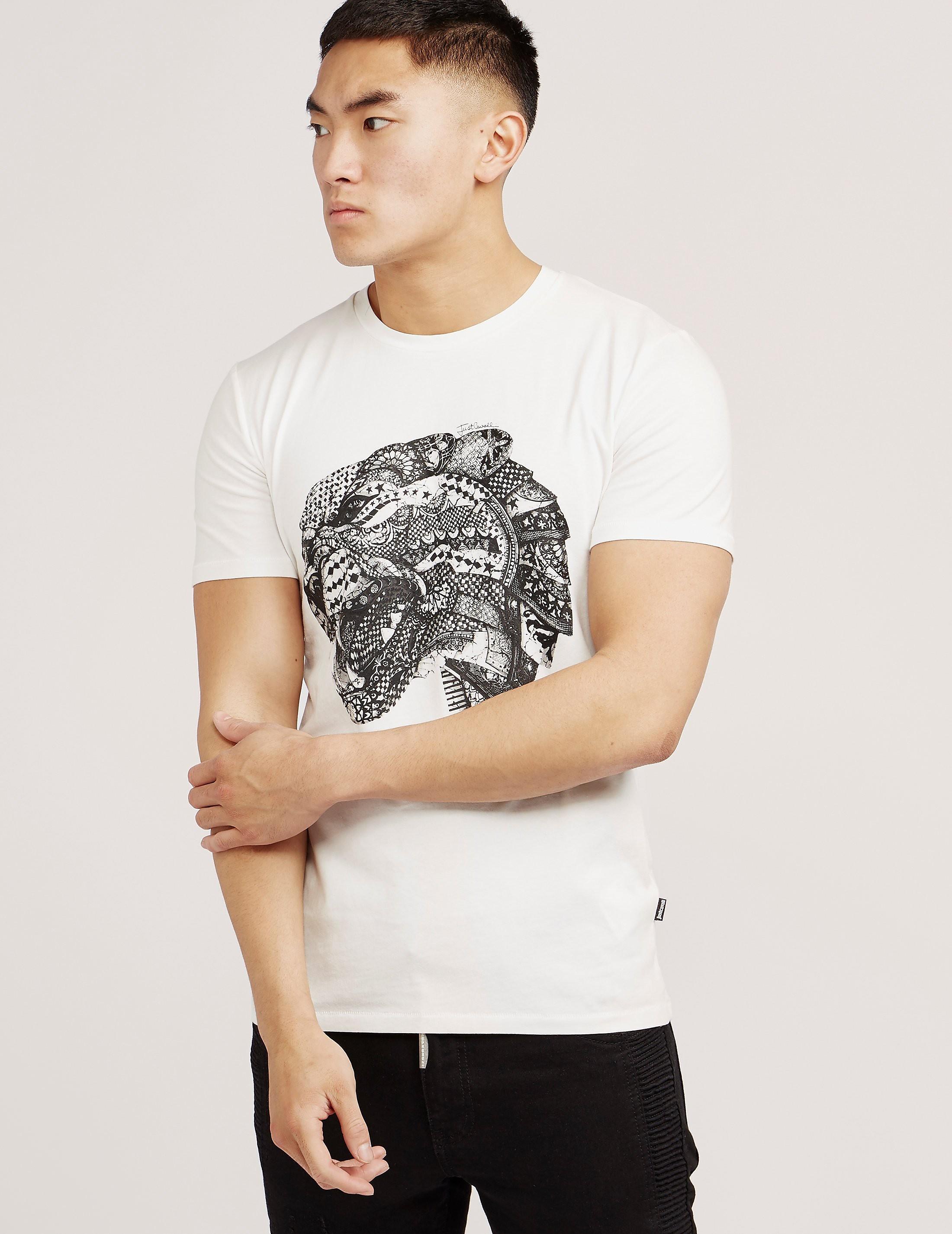 Just Cavalli Tiger Head Short Sleeve T-Shirt