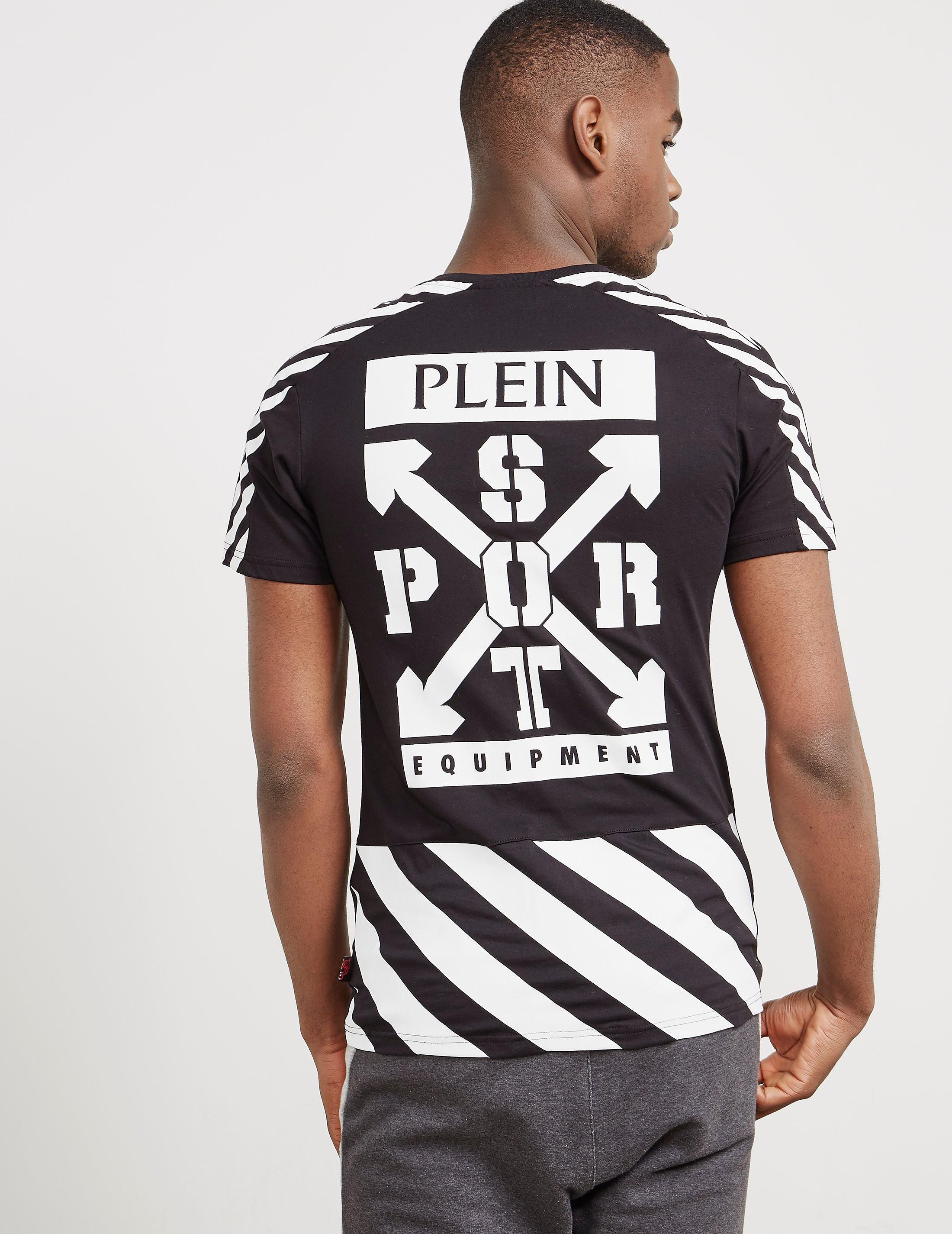 Philipp Plein Sport Stripe Panel Short Sleeve T-Shirt