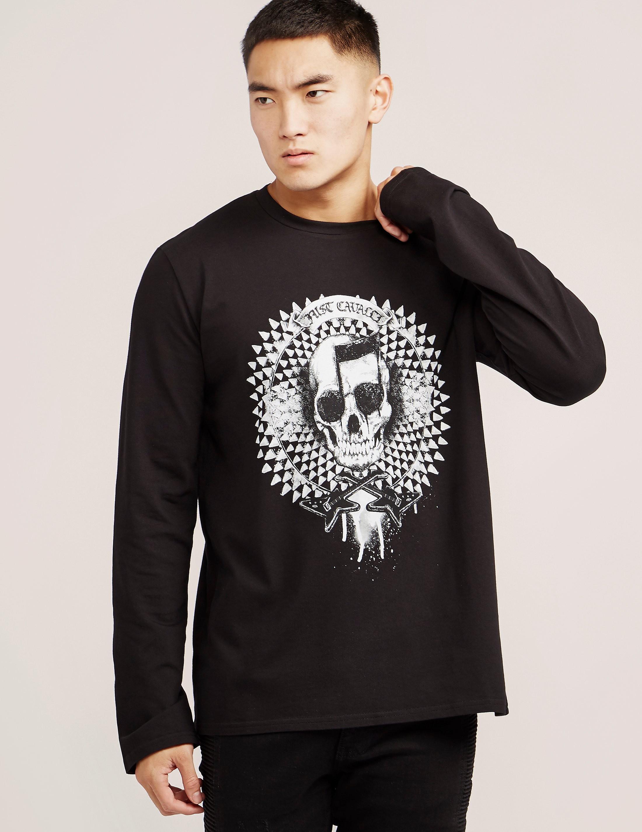 Just Cavalli Musical Skull Long Sleeve T-Shirt