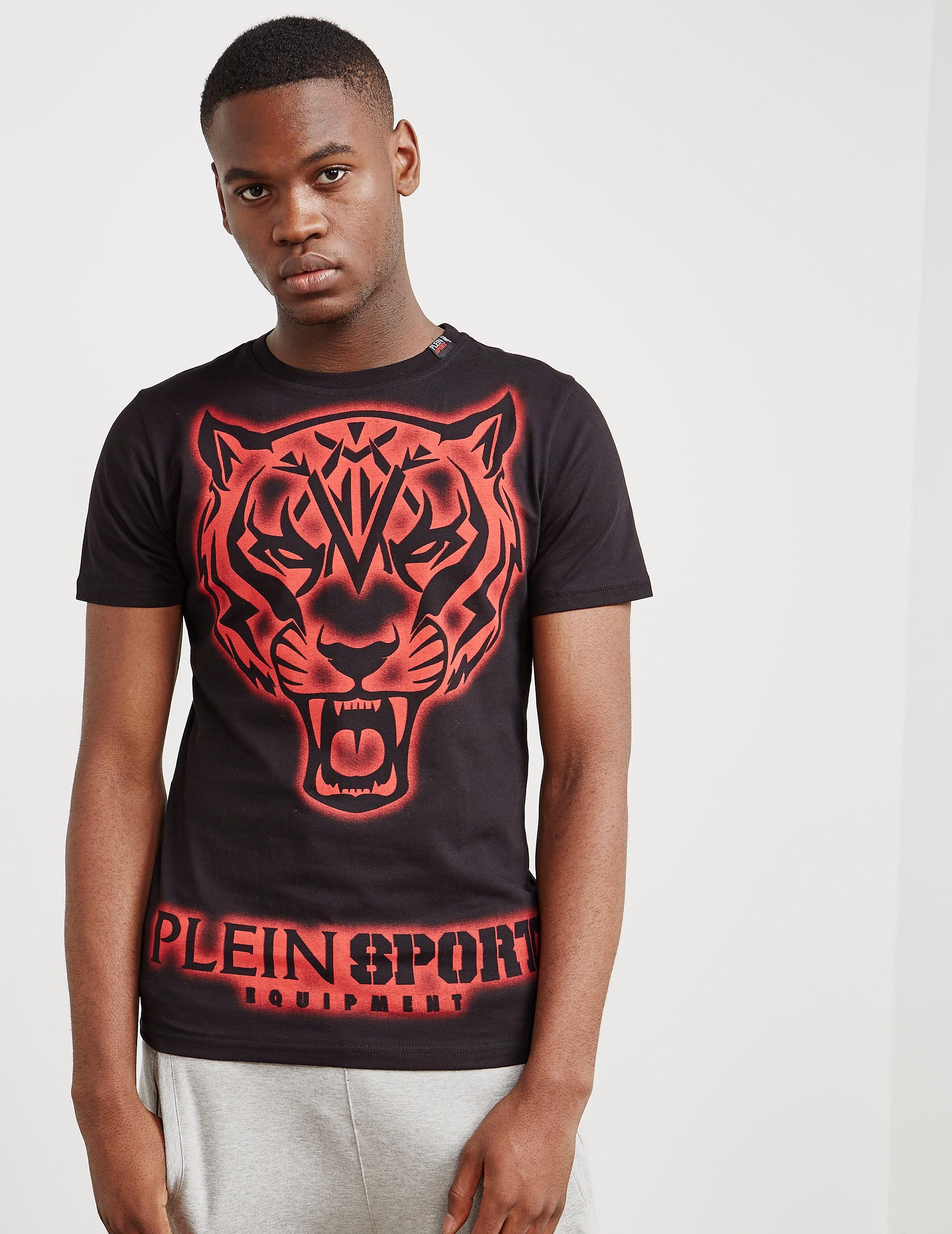 Philipp Plein Sport Neon Tiger Short Sleeve T-Shirt