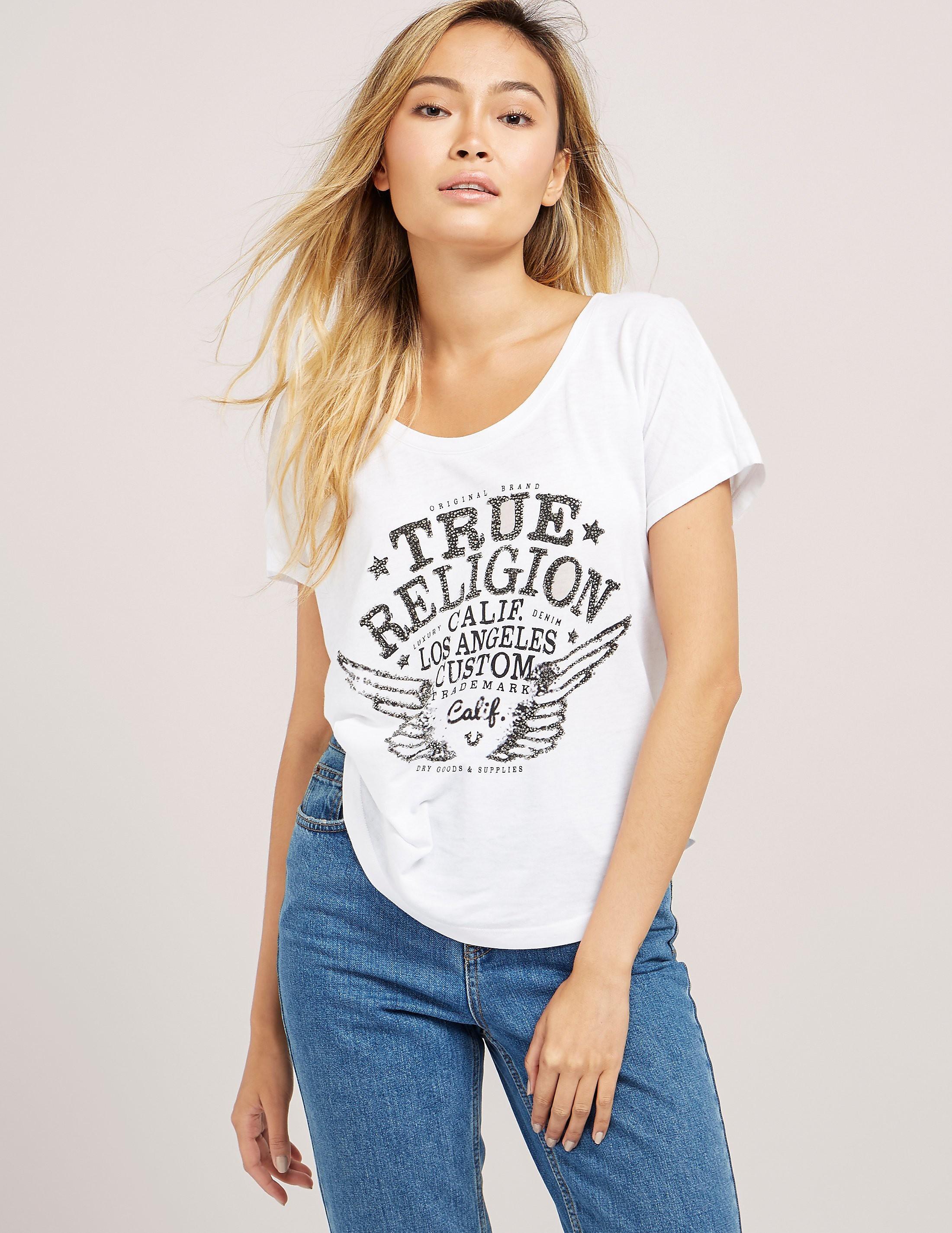 True Religion Wings Short Sleeve T-Shirt