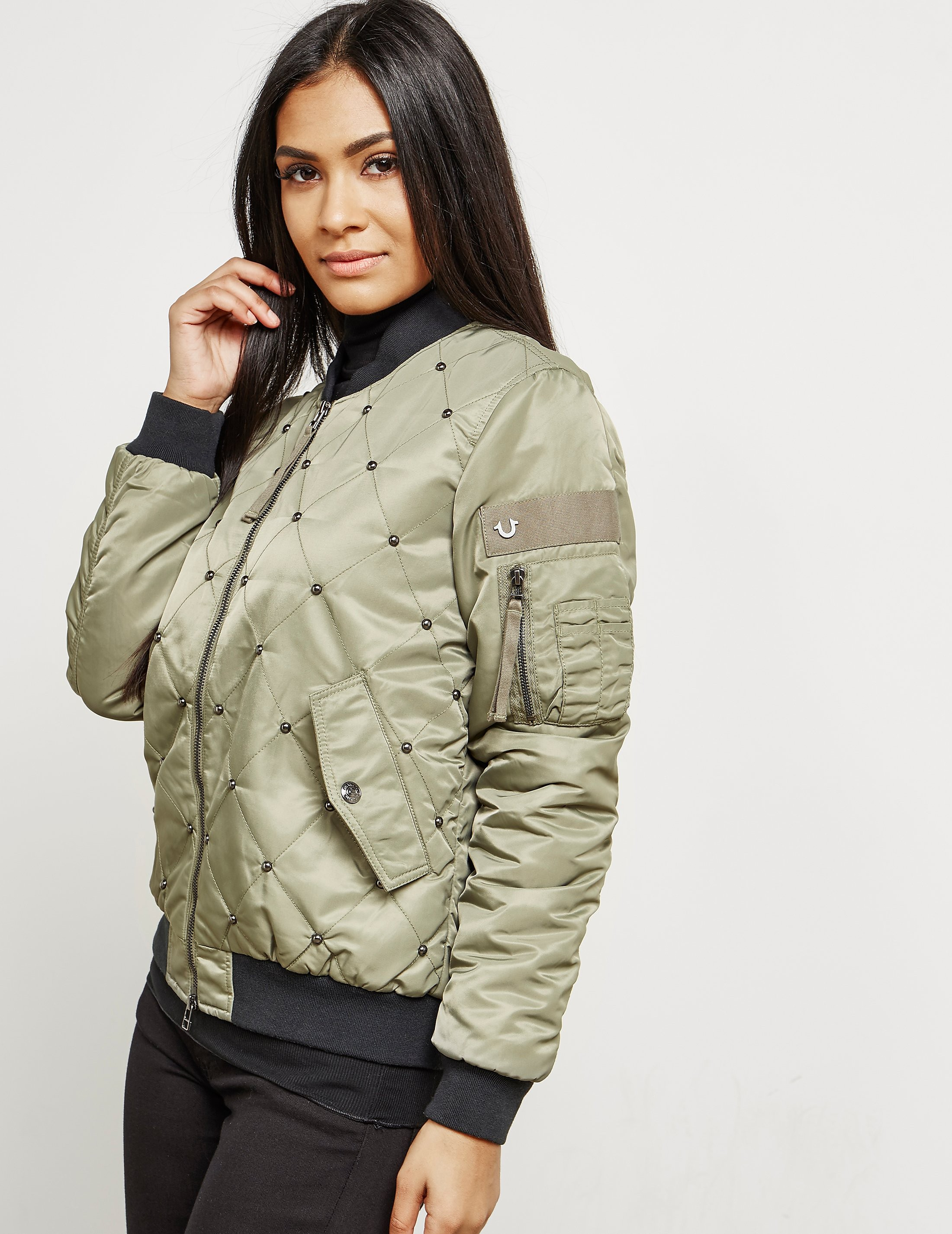 True Religion Chalk Bomber Jacket
