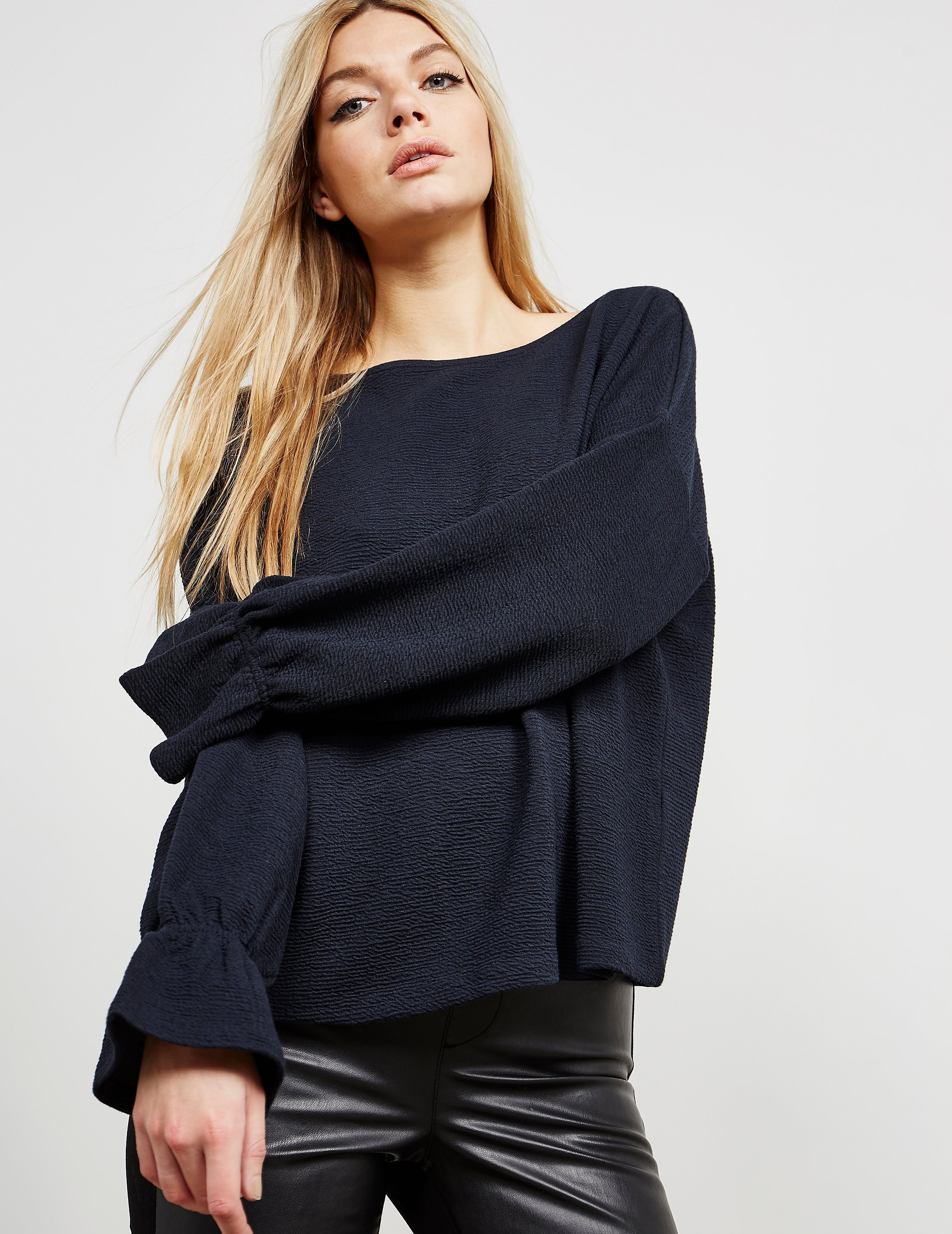 French Connection Flare Sleeve Top