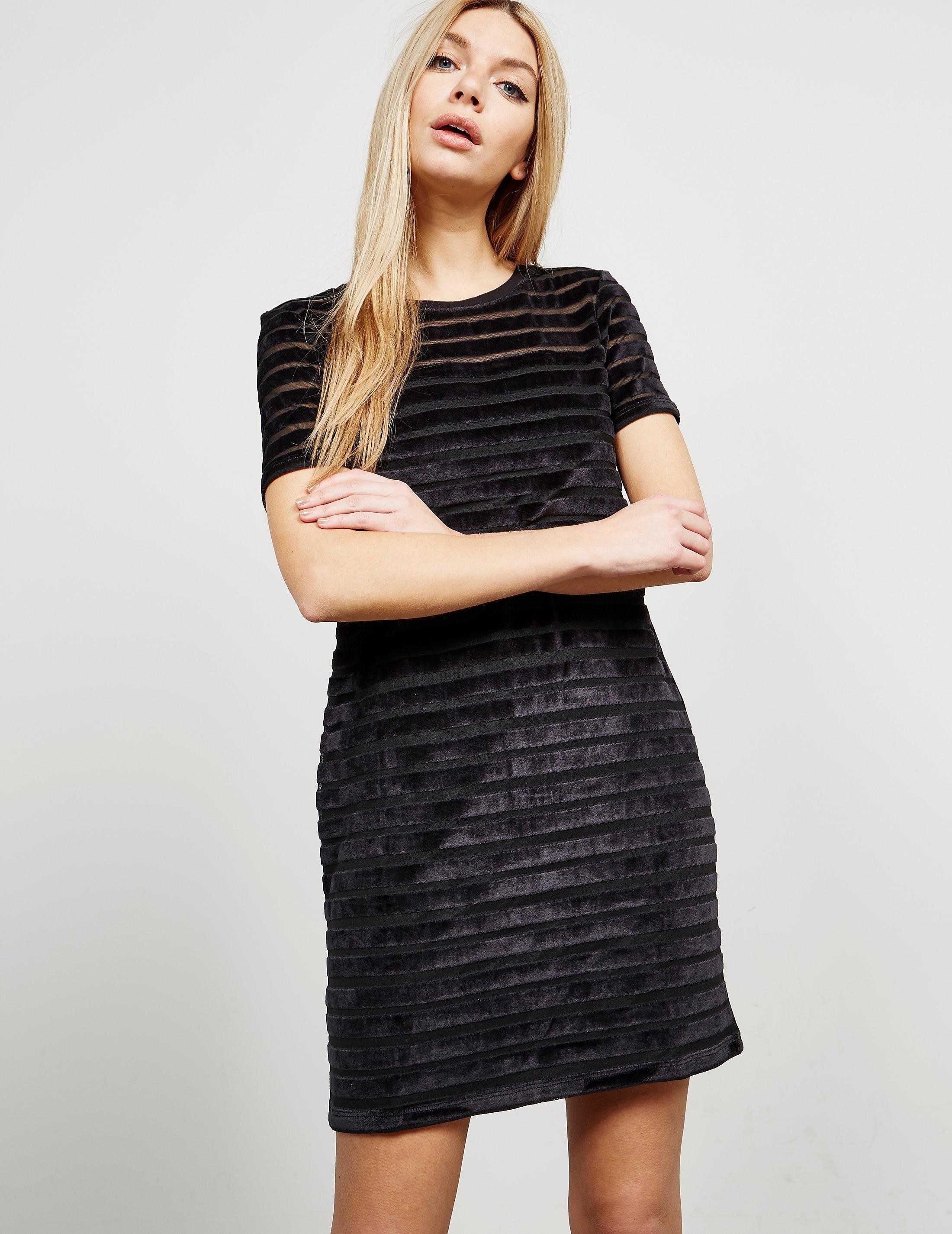 French Connection Velvet Stripe Dress
