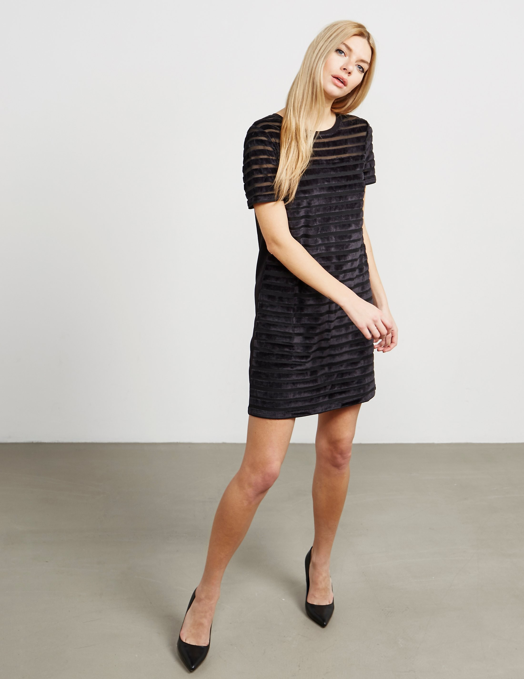French Connection Velvet Stripe Dress
