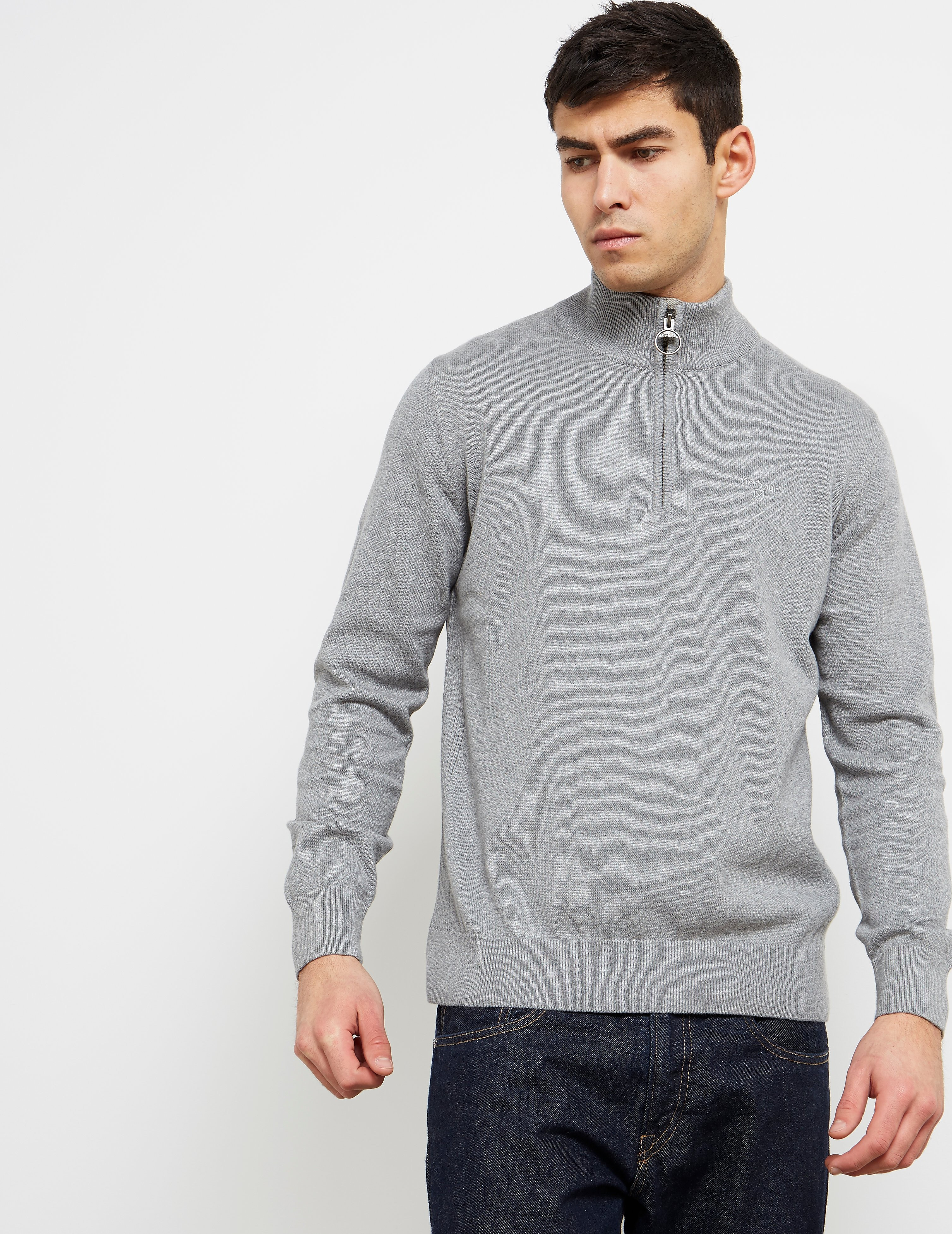 Barbour 1/2 Zip Knitted Jumper