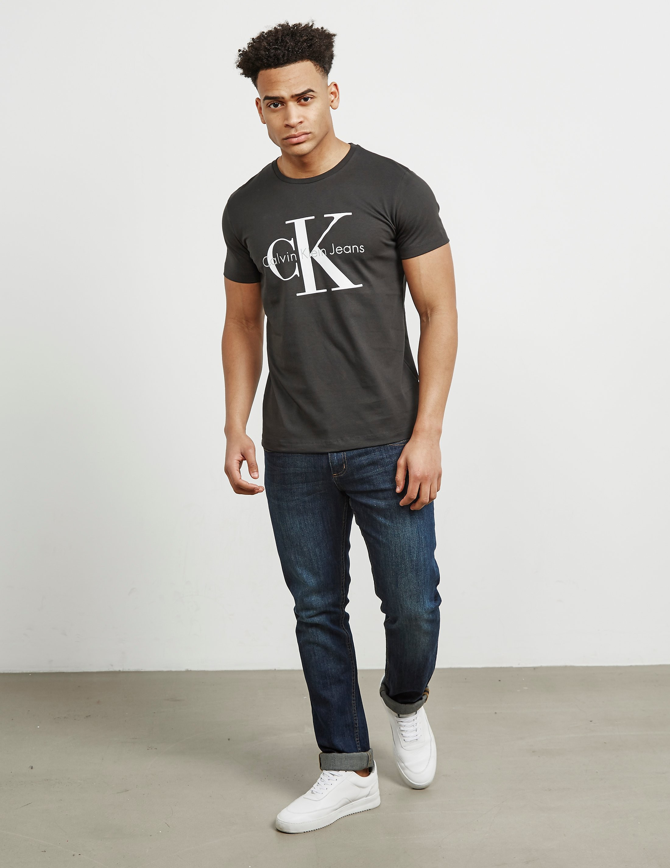 Calvin Klein Large Icon Logo Short Sleeve Crew T-Shirt