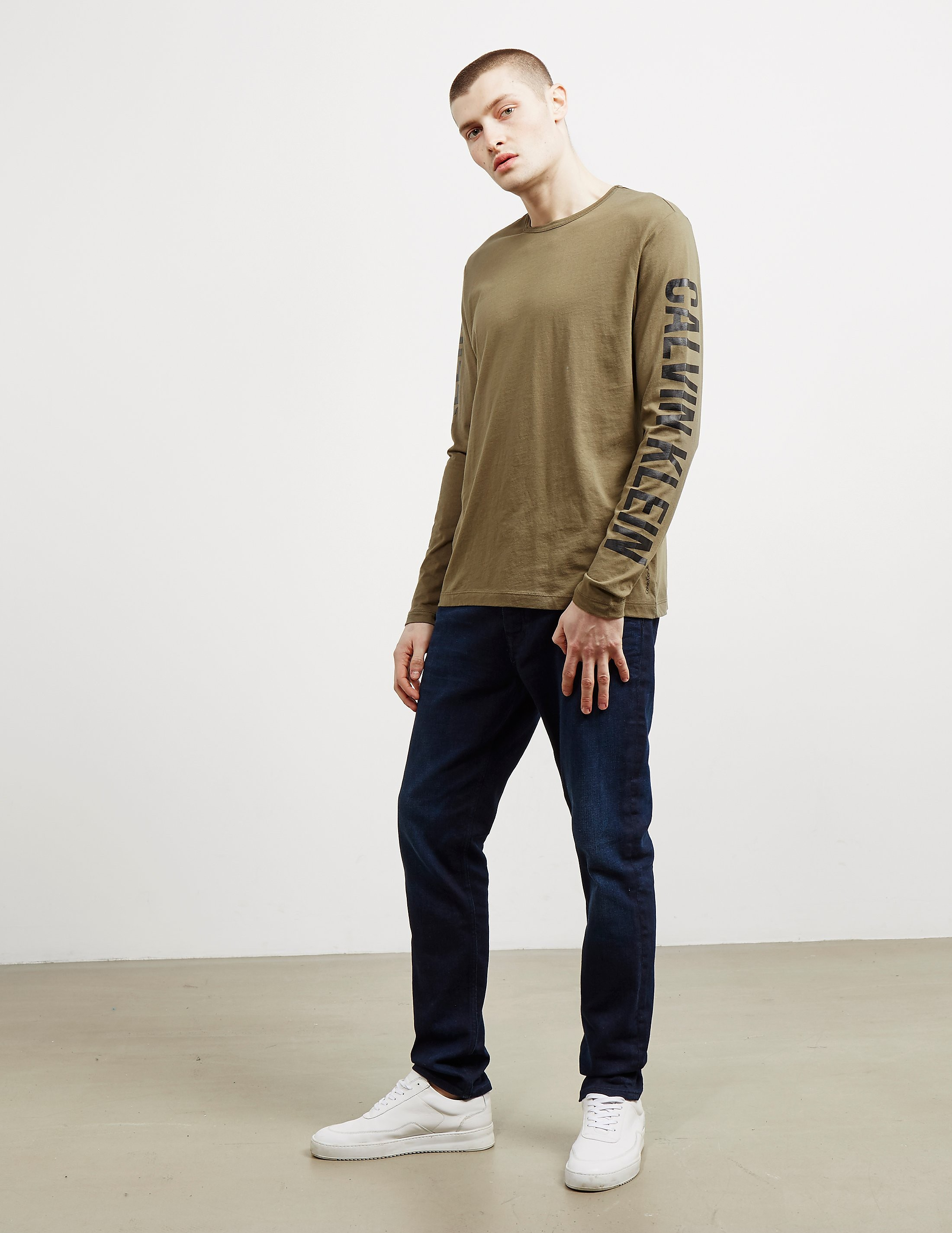 Calvin Klein Arm Logo Long Sleeve T-Shirt