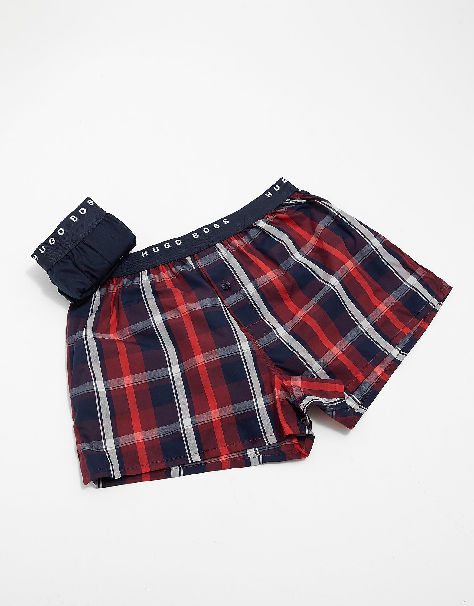 BOSS 2-Pack Woven Check Boxer Shorts