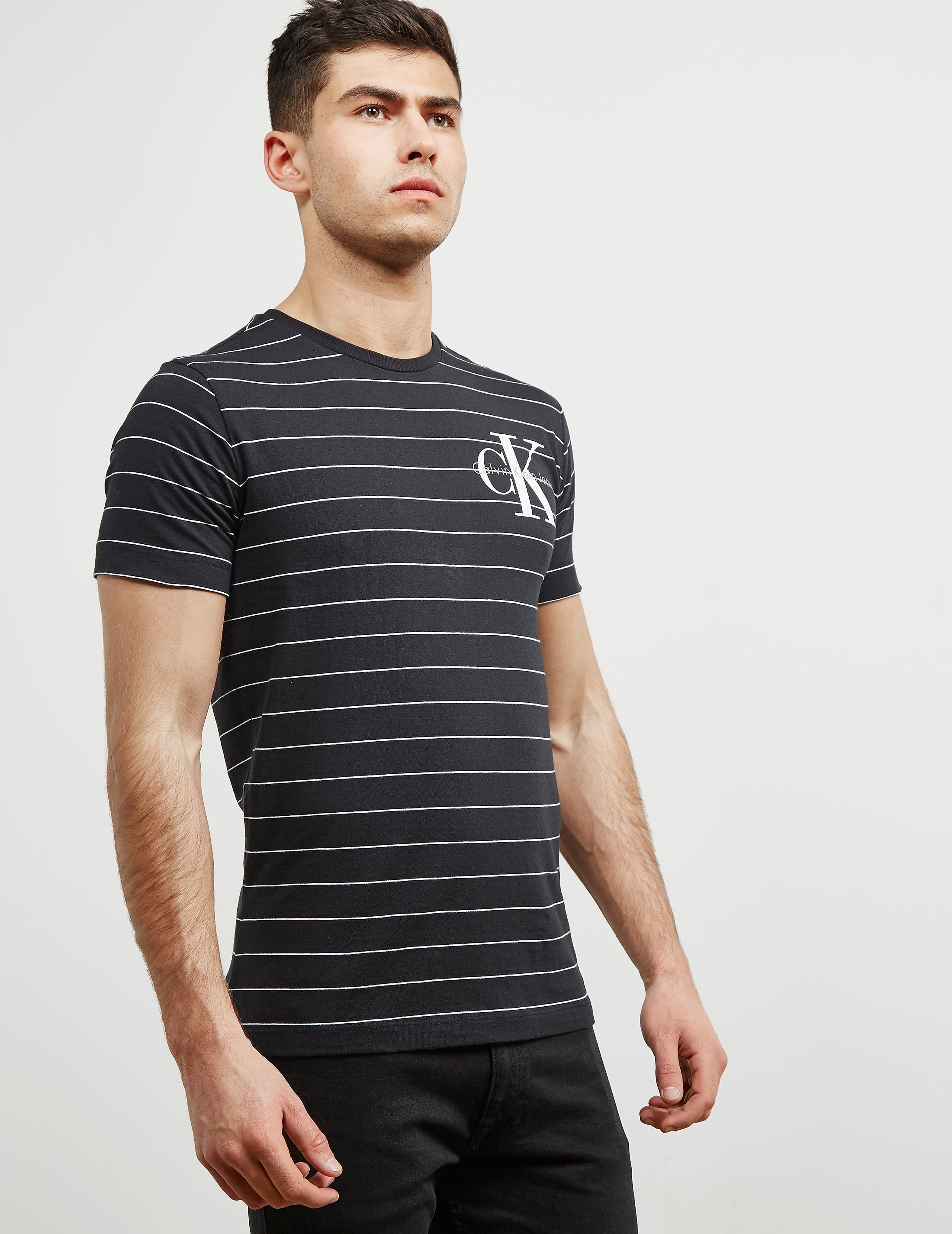 Calvin Klein Stripe Crew Short Sleeve T-Shirt